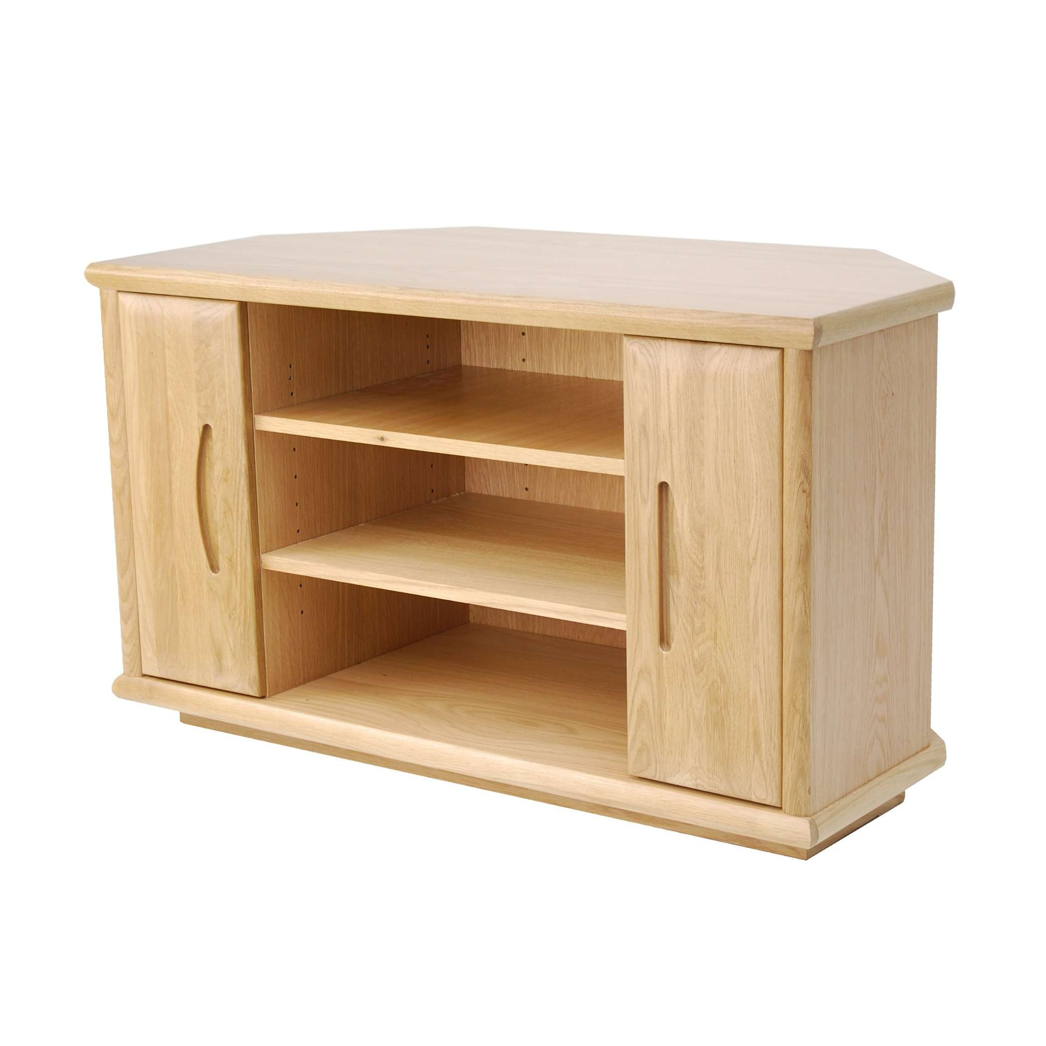 Oak Corner Tv Stand | Gola Furniture Uk Within Oak Tv Cabinets With Doors (View 8 of 20)