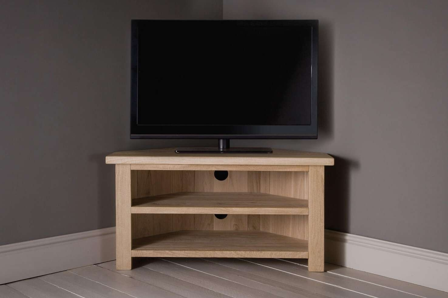 Oak Corner Tv Unit With Shelfindigo Furniture In Oak Corner Tv Cabinets (View 13 of 20)
