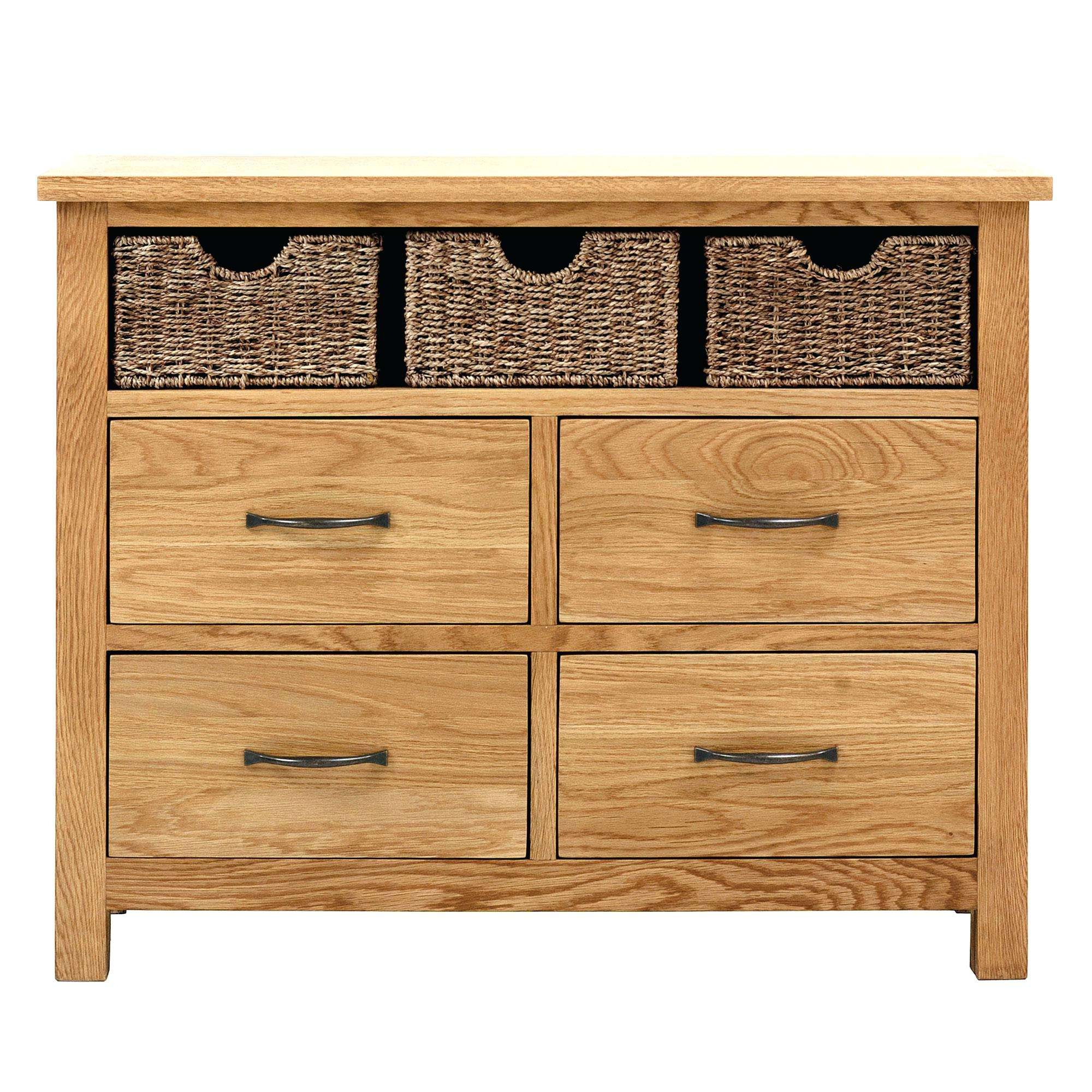 Oak Furniture Sideboards Oak Sideboard With Baskets Exclusive To In Wood Sideboards (Gallery 11 of 20)