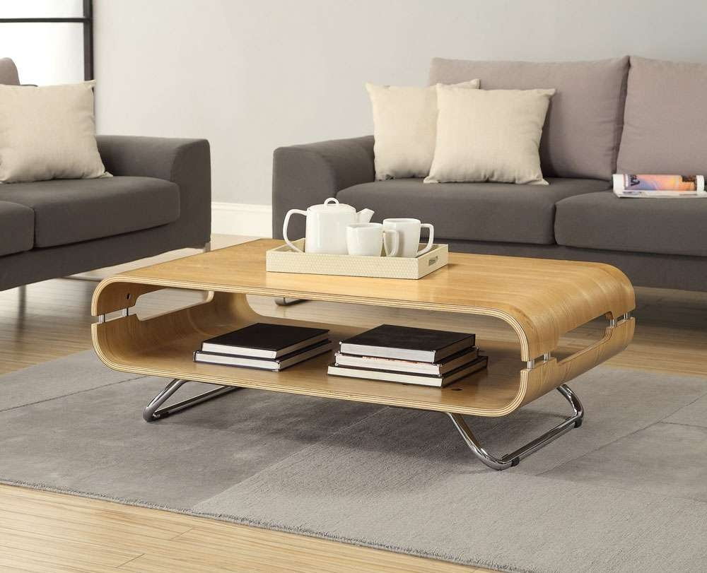 Oak Furniture Solutions With Fashionable Curve Coffee Tables (View 11 of 20)