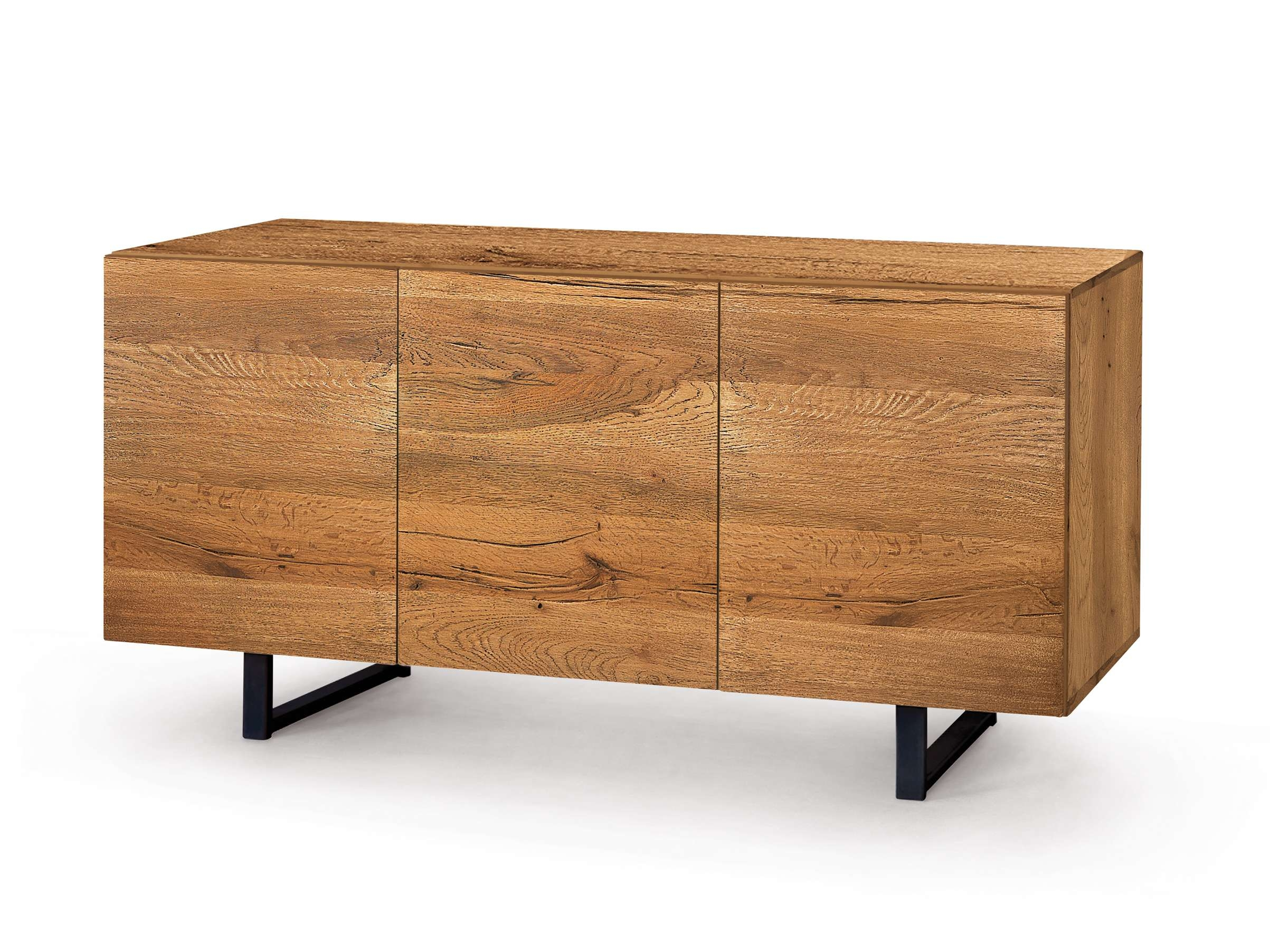 Oak Sideboard With Doors Enzaminiforms Design E Ggs Within Wooden Sideboards (View 9 of 20)