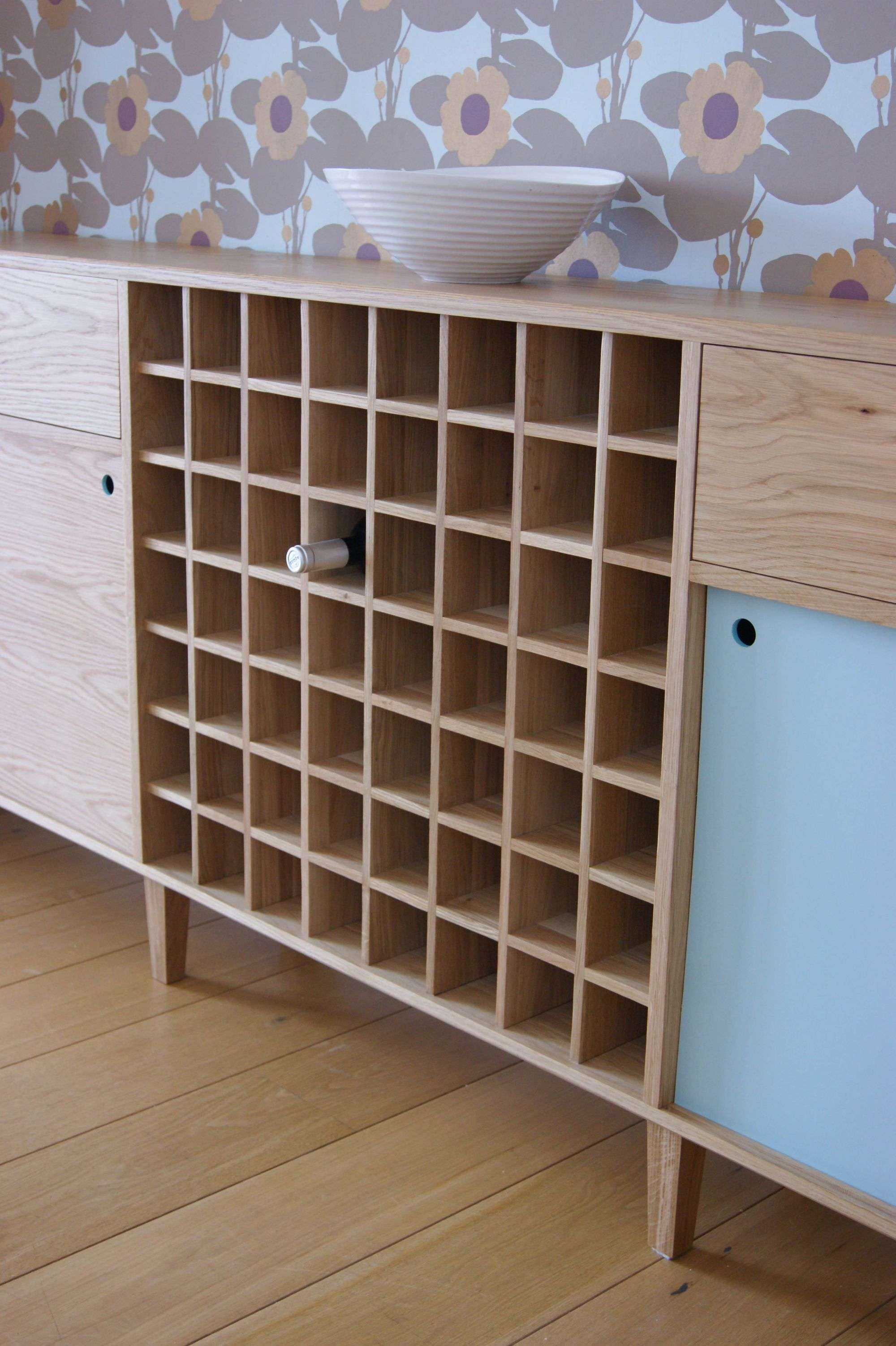Oak Sideboard With Wine Rack – Mijmoj For Sideboards With Wine Rack (View 20 of 20)