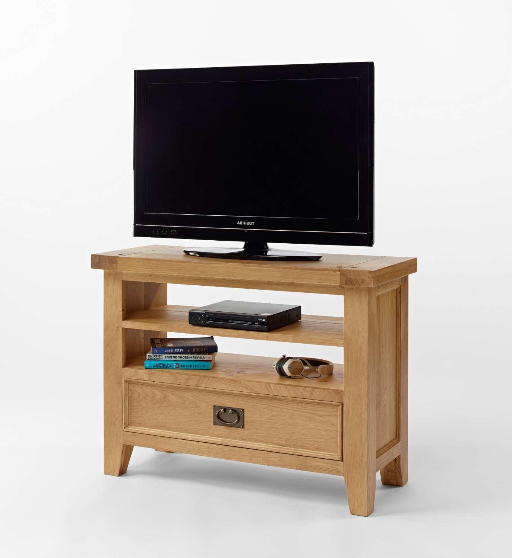 Oak Small Tv Unit Regarding Small Tv Cabinets (View 9 of 20)
