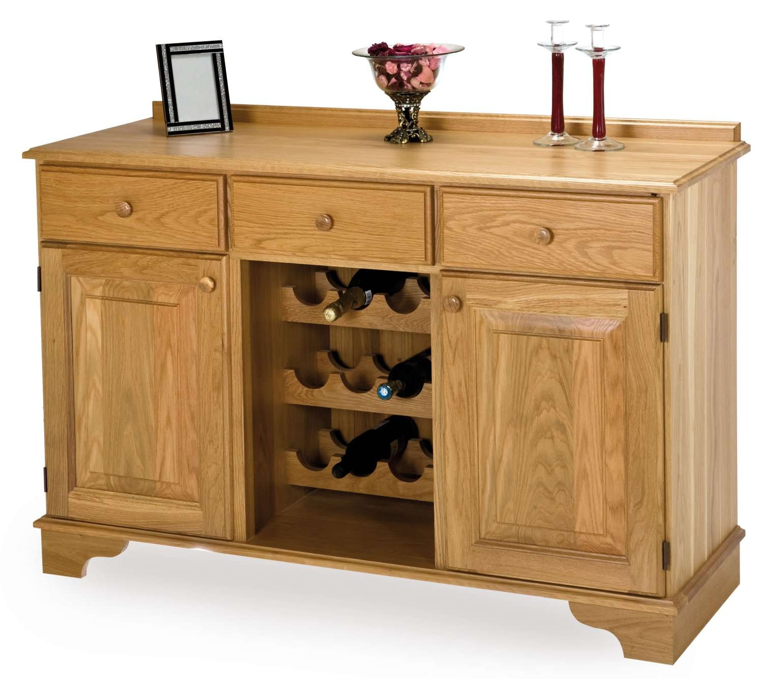 Oak Wine Rack Sideboard Regarding Sideboards With Wine Rack (View 12 of 20)