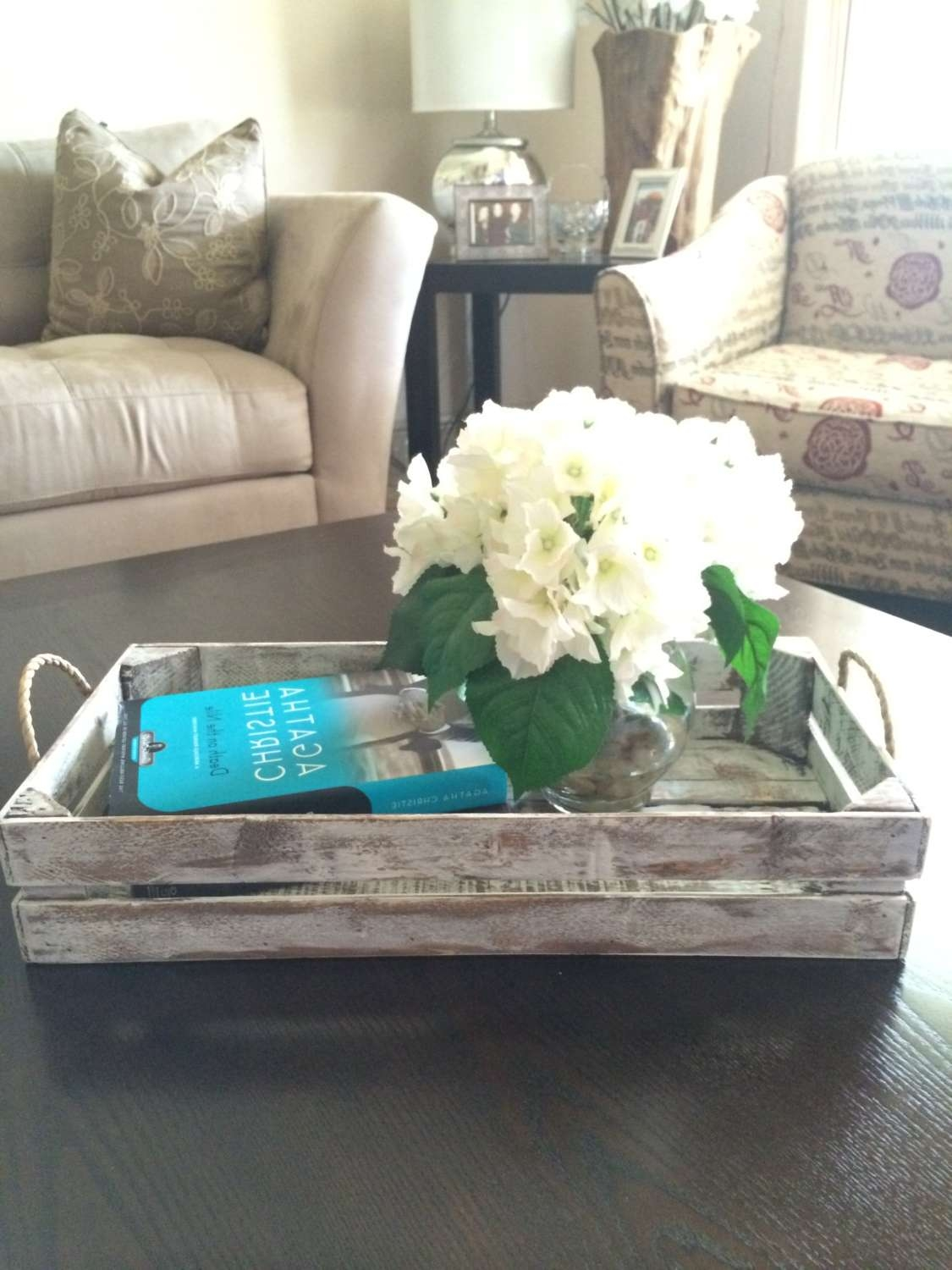Old And Vintage Diy Square Coffee Table Tray Made From Reclaimed In Most Popular Round Coffee Table Trays (View 7 of 20)