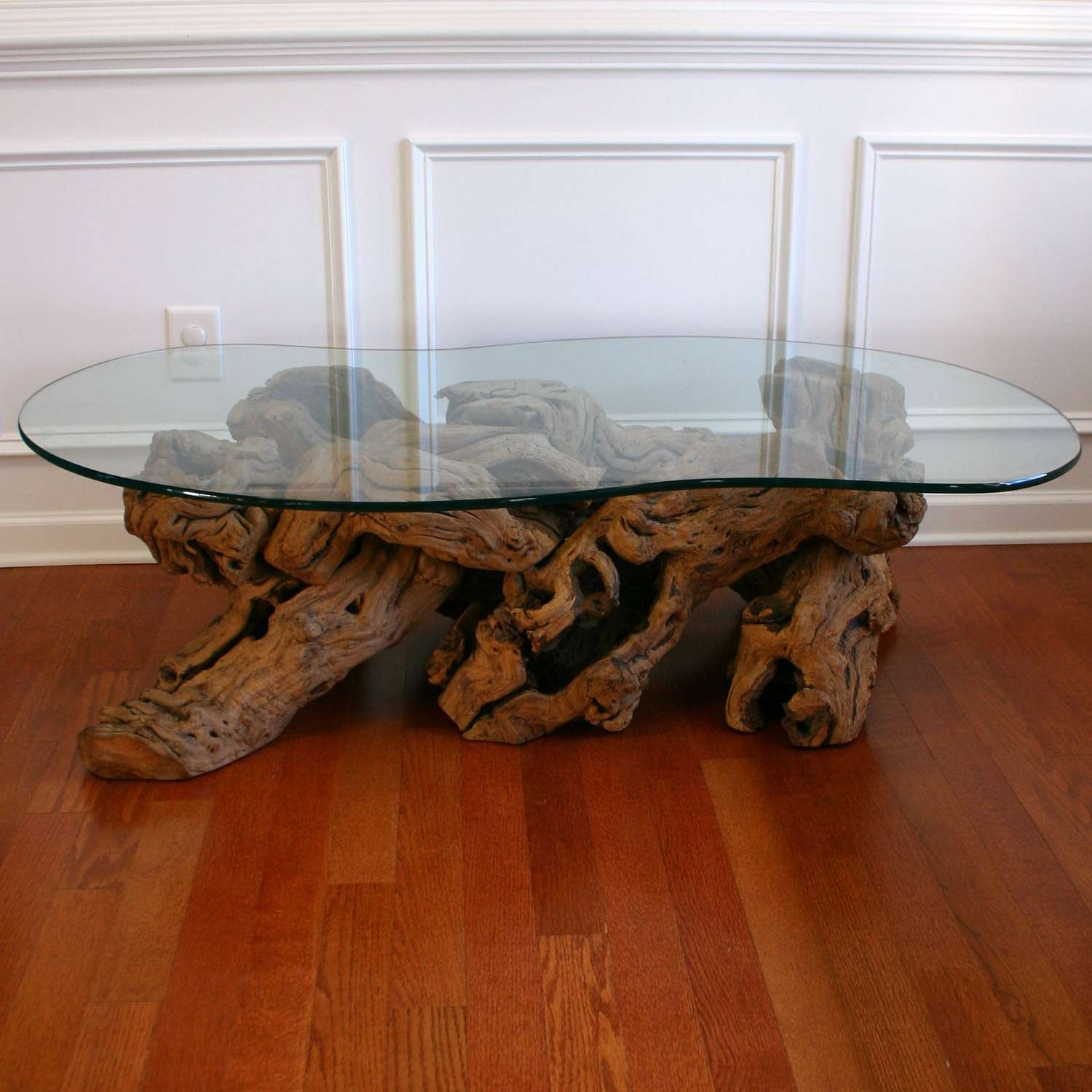 Old Crate And Barrel Driftwood Coffee Table With Glass Top For Inside Most Recently Released White Wood And Glass Coffee Tables (View 15 of 20)