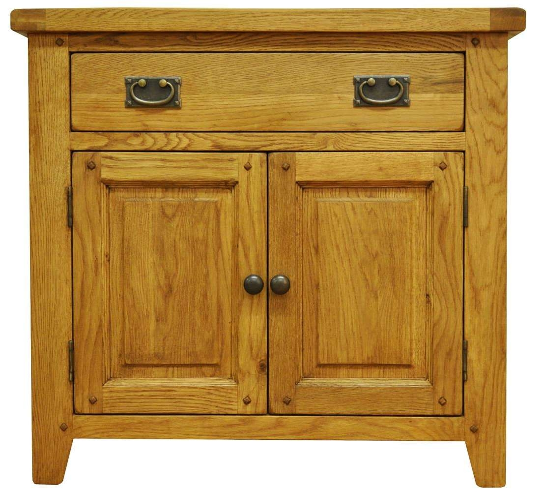 Oldbury Small Rustic Oak Sideboardstanton Small Rustic Oak Regarding Rustic Sideboards (View 15 of 20)
