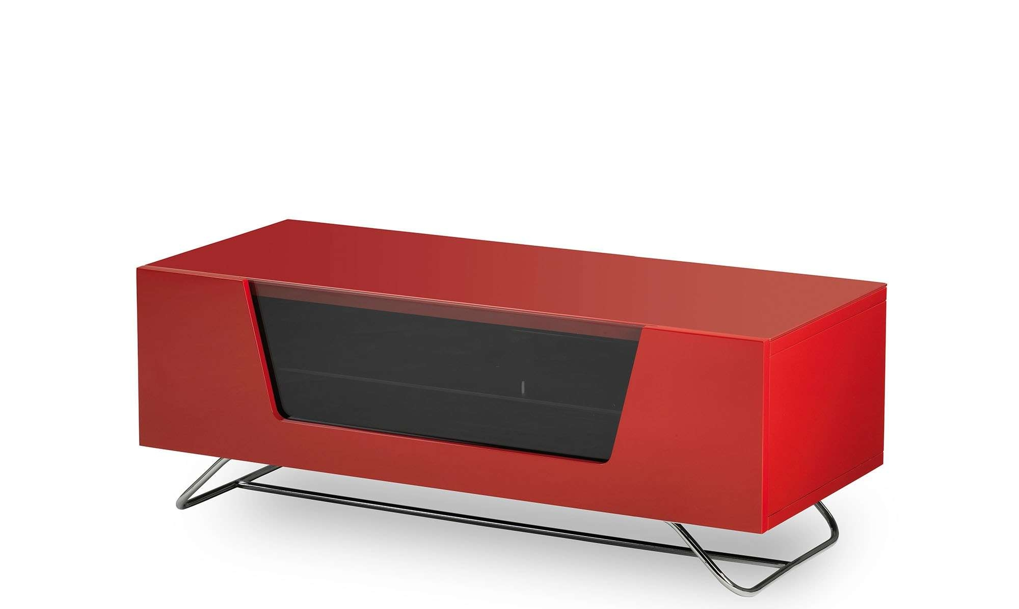Omega – Red High Gloss Tv Unit – Fishpools Throughout Red Gloss Tv Cabinets (Gallery 5 of 20)