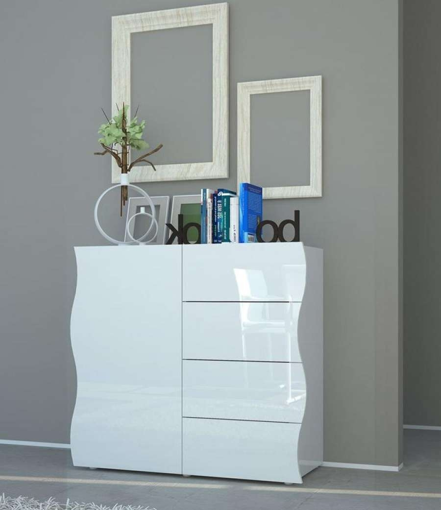 Onda High Gloss Sideboard | Modern Black Or White Sideboard With Regard To High Gloss Grey Sideboards (View 9 of 20)