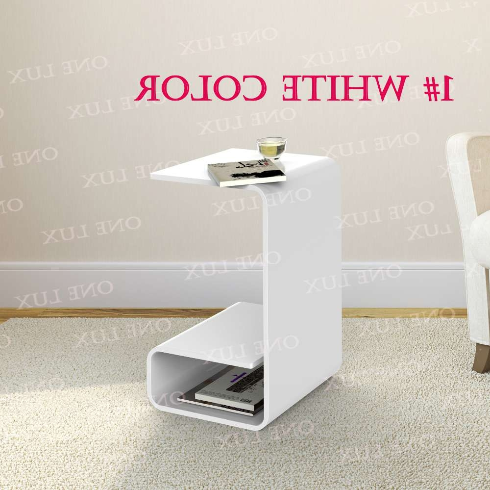 One Lux Clear Acrylic Side Table With Magazine Rack, Stylish In Well Known Acrylic Coffee Tables With Magazine Rack (Gallery 13 of 20)