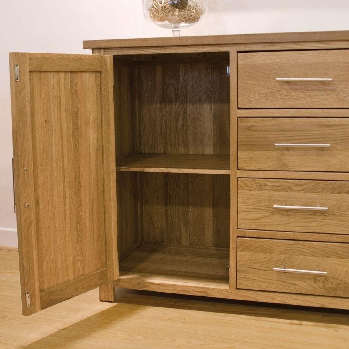 Opus Solid Oak Large 2 Door Sideboard | Oak Furniture Uk With Regard To 2 Door Sideboards (Gallery 16 of 20)