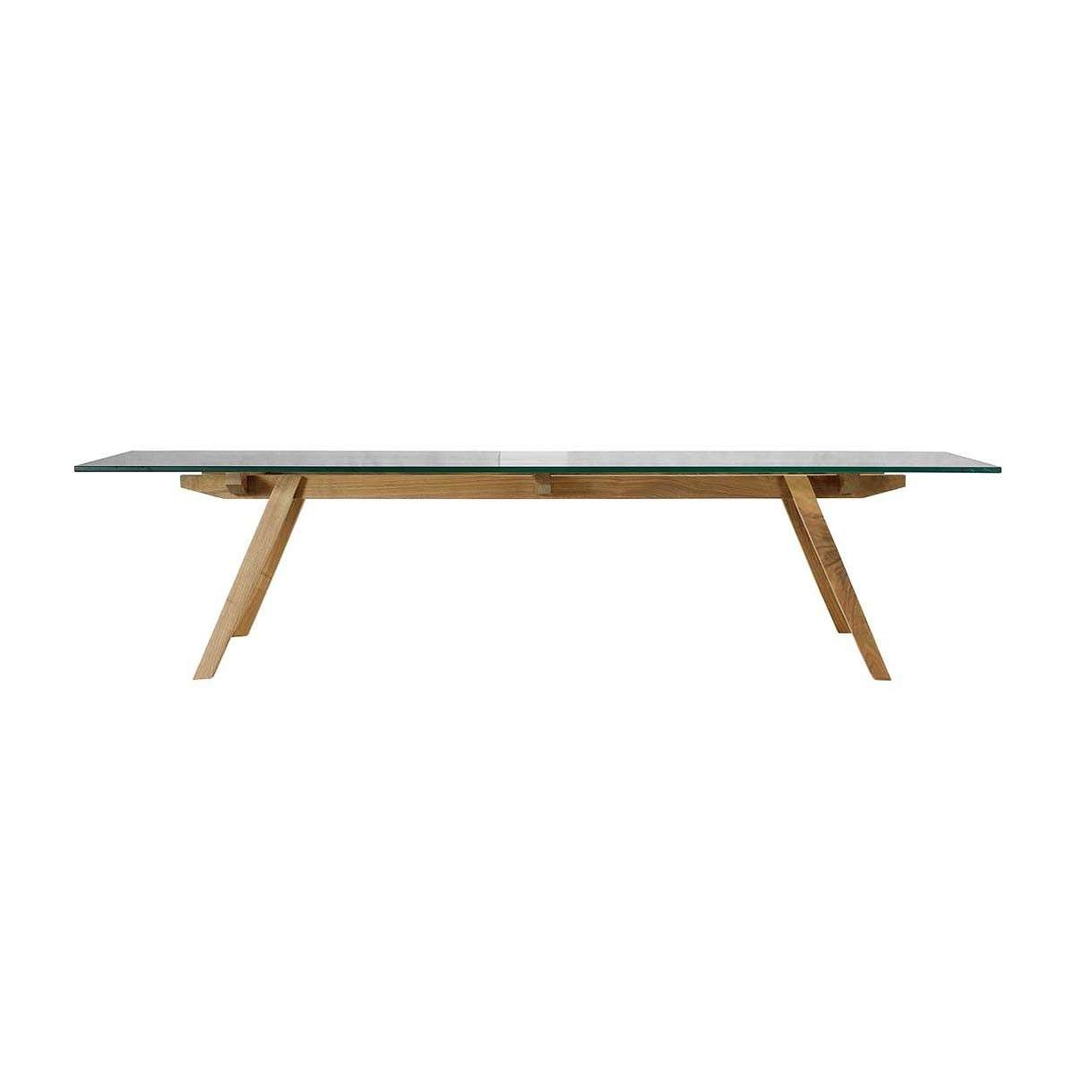 Organic Modernism – Alejandro Sticotti Glass Coffee Table (Oak For Trendy Oak And Glass Coffee Tables (View 16 of 20)