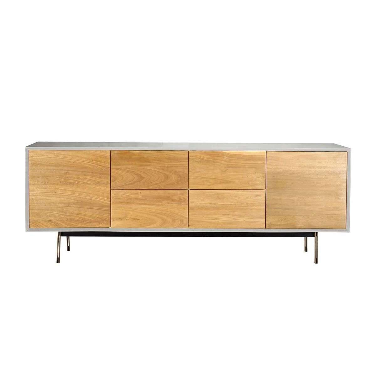 Organic Modernism – Valencia Buffet Sideboard (Beech, White Inside Quirky Sideboards (View 12 of 20)