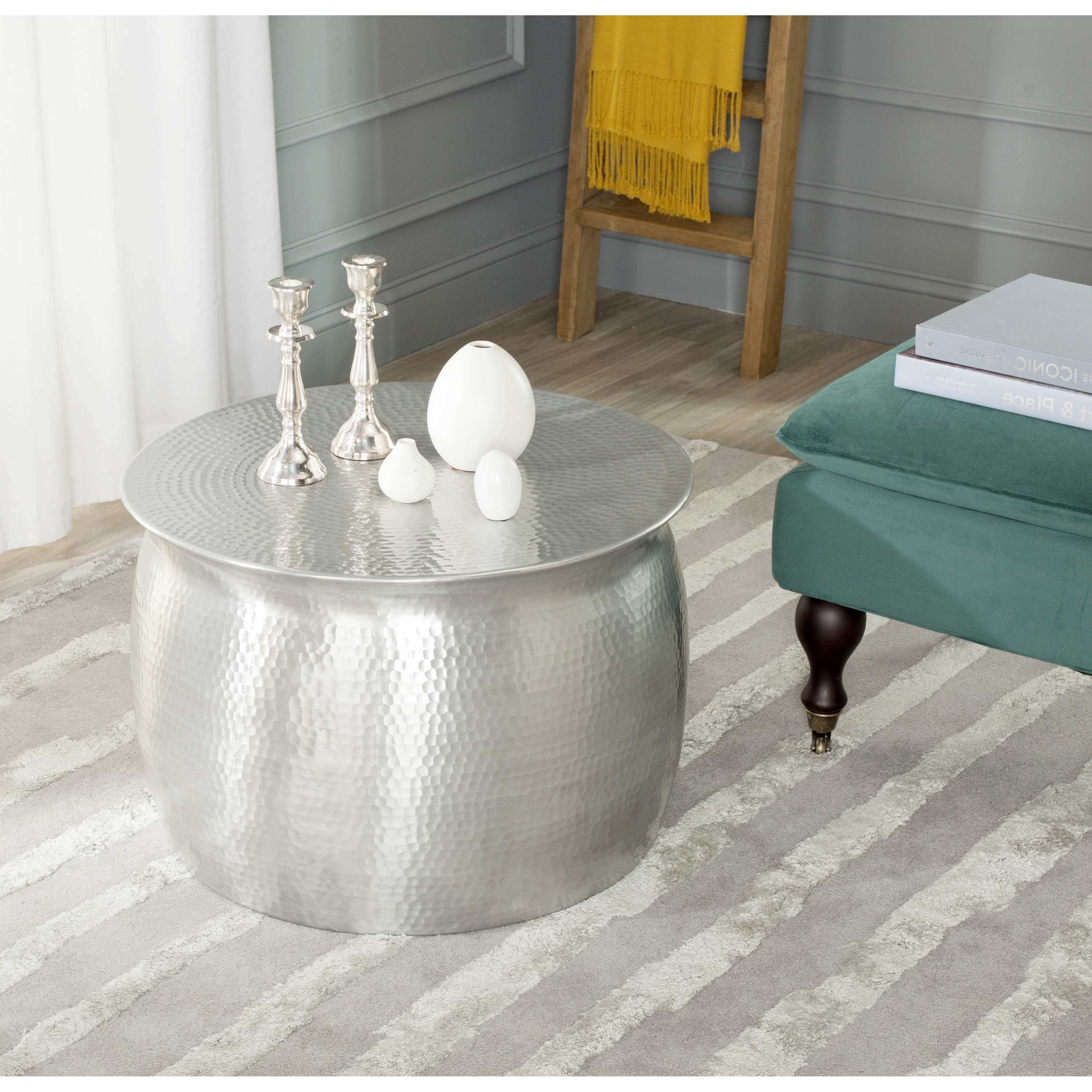 Organizing Small Living Room Spaces With Hammered Round Silver Pertaining To Most Popular Hammered Silver Coffee Tables (View 9 of 20)