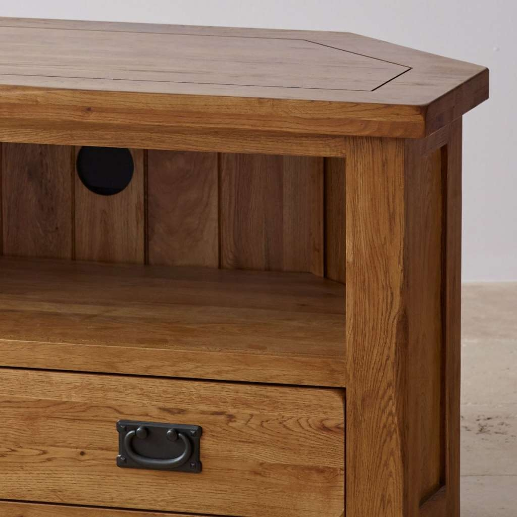Original Rustic Corner Tv Cabinet In Solid Oak With Regard To Intended For Rustic Corner Tv Cabinets (View 13 of 20)