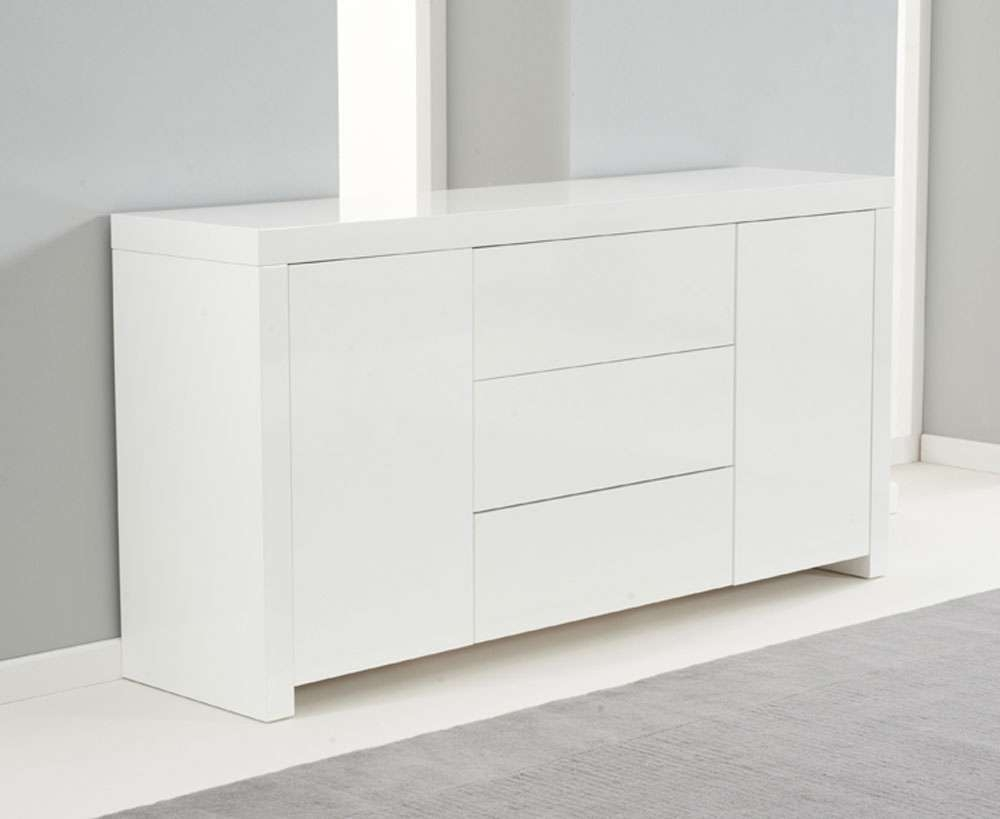 Ornella White High Gloss Sideboard Inside High Gloss Sideboards (View 14 of 20)