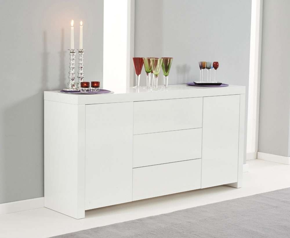 Ornella White High Gloss Sideboard | Oak Furniture Solutions For High Gloss Sideboards (Gallery 5 of 20)