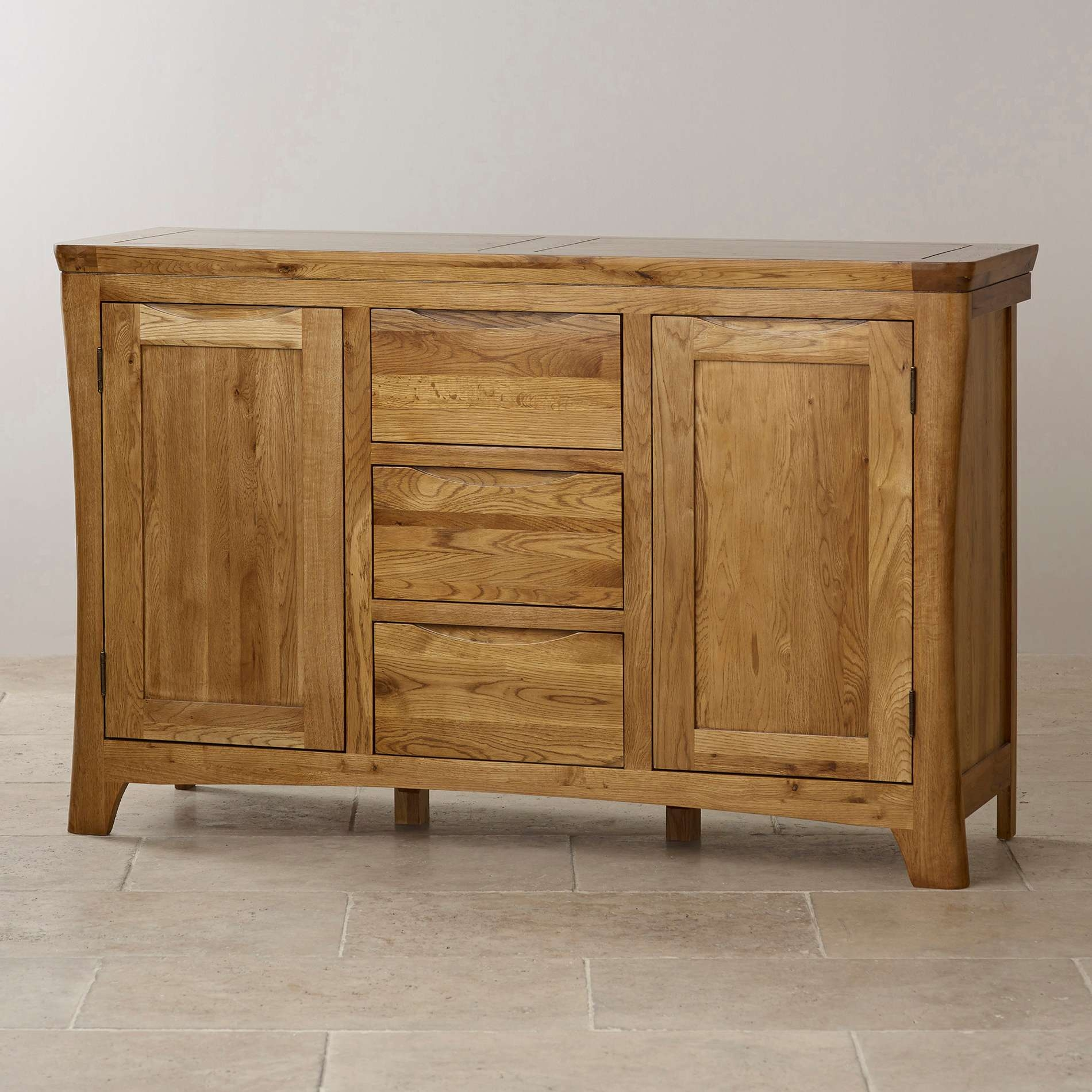 Orrick Large Sideboard | Solid Oak | Oak Furniture Land Inside Rustic Oak Large Sideboards (View 10 of 20)