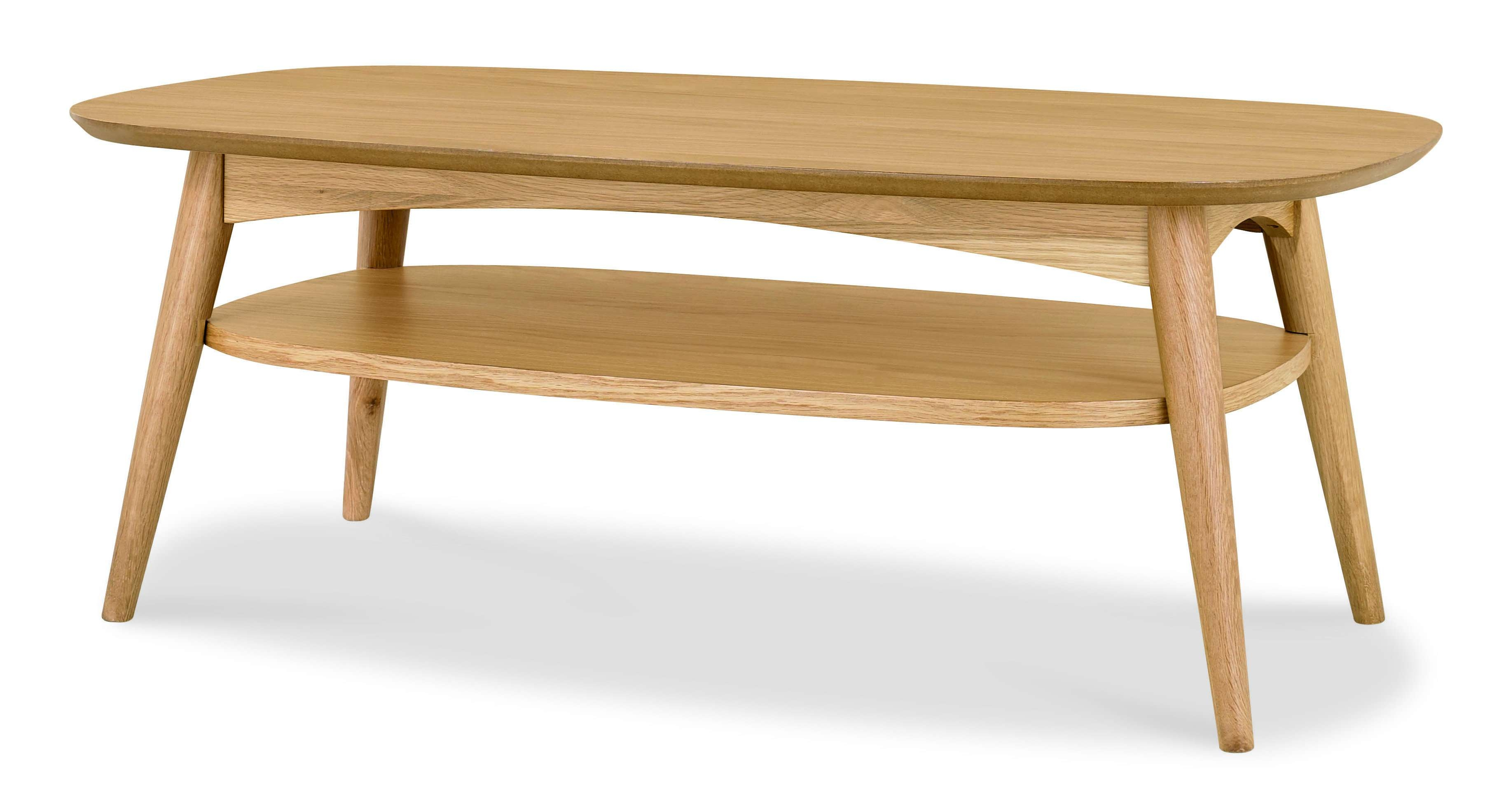 Oslo Oak Coffee Table With Shelf (View 13 of 20)