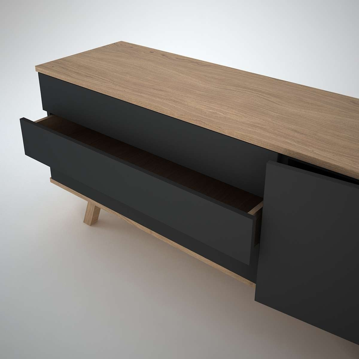 Ottawa Sideboard (1+3) Anthracite – Join Furniture Pertaining To Modern Contemporary Sideboards (Gallery 8 of 20)