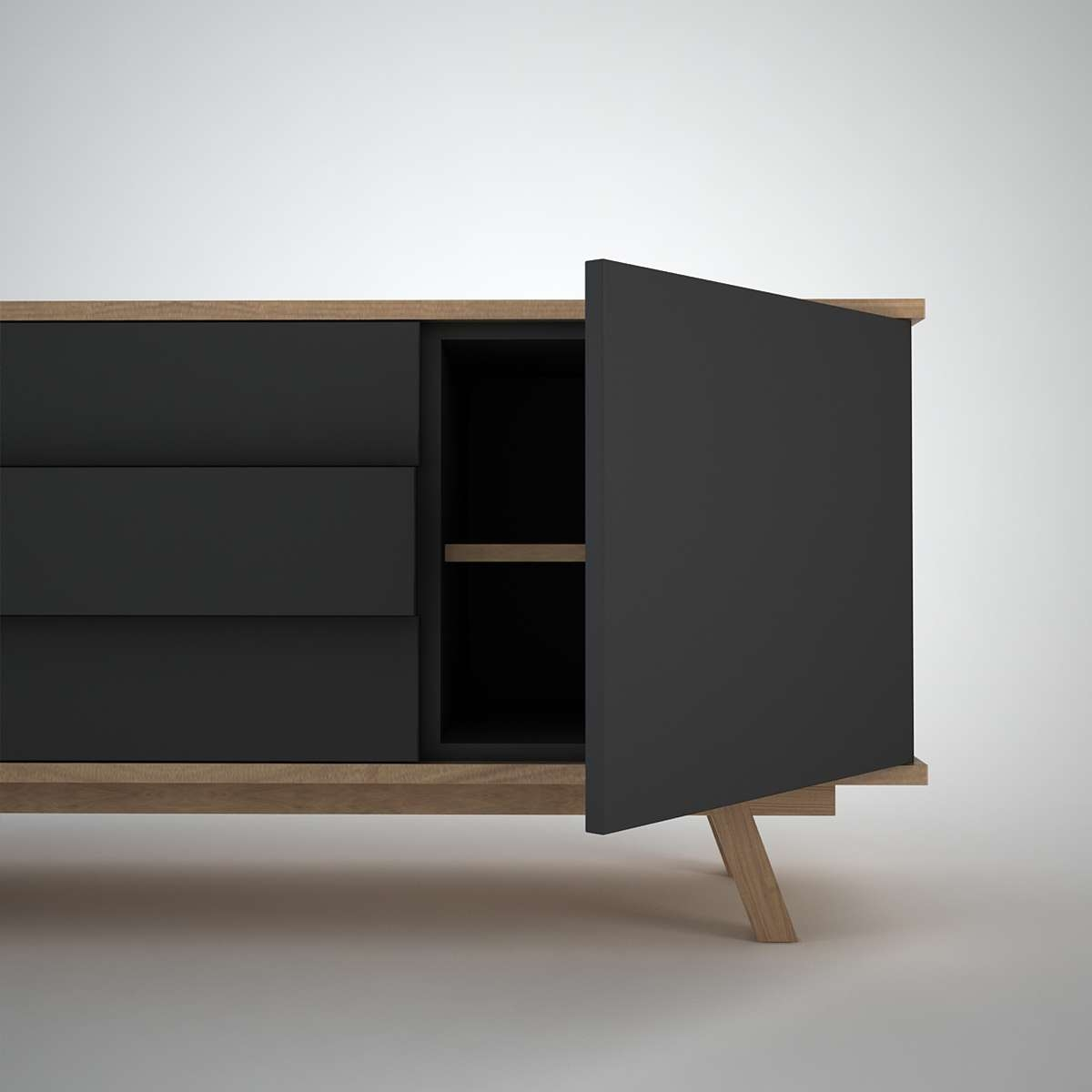 Ottawa Sideboard (2+3) Anthracite – Join Furniture Pertaining To Contemporary Sideboards (Gallery 3 of 20)