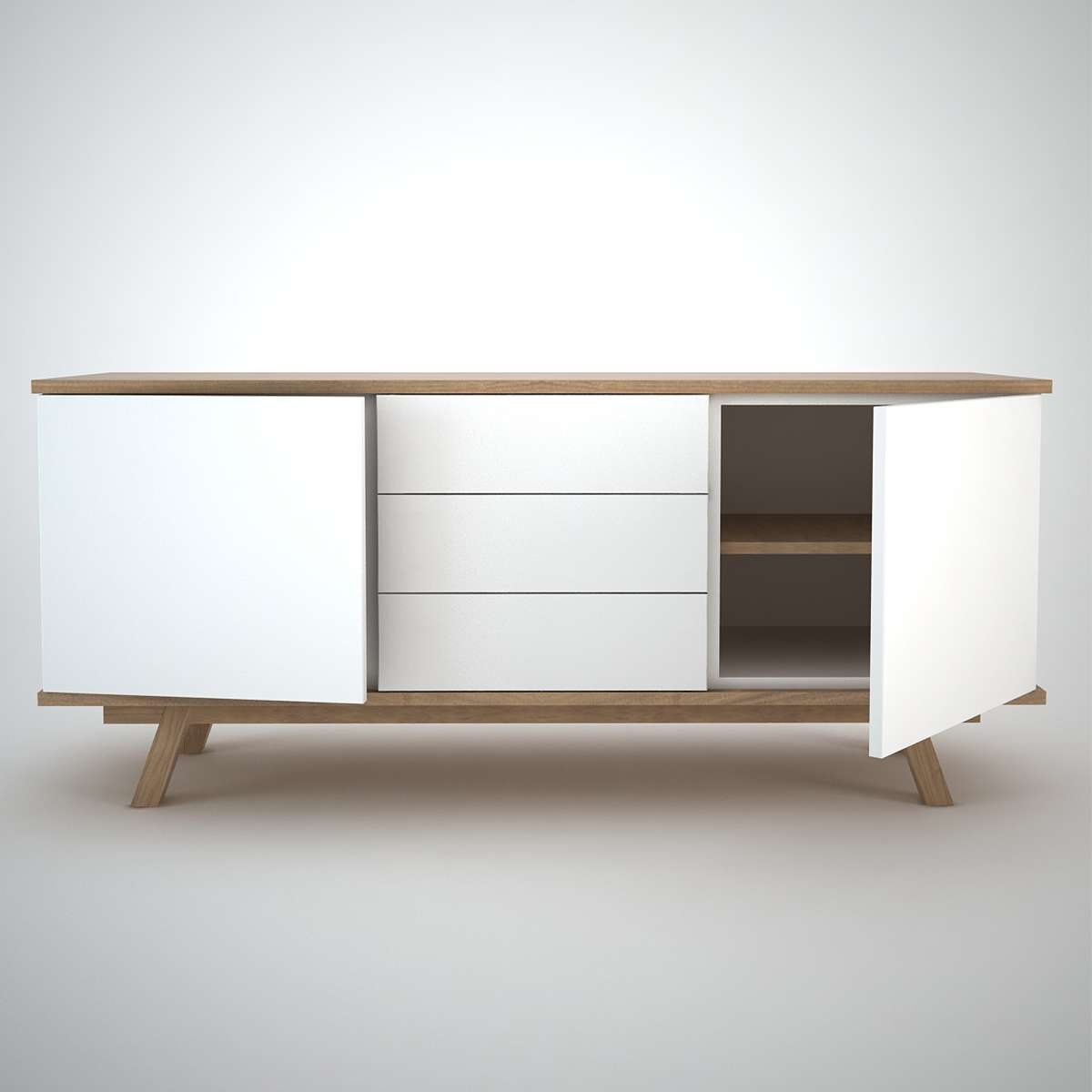 Ottawa Sideboard (2+3) White – Join Furniture Inside Small Low Sideboards (View 11 of 20)