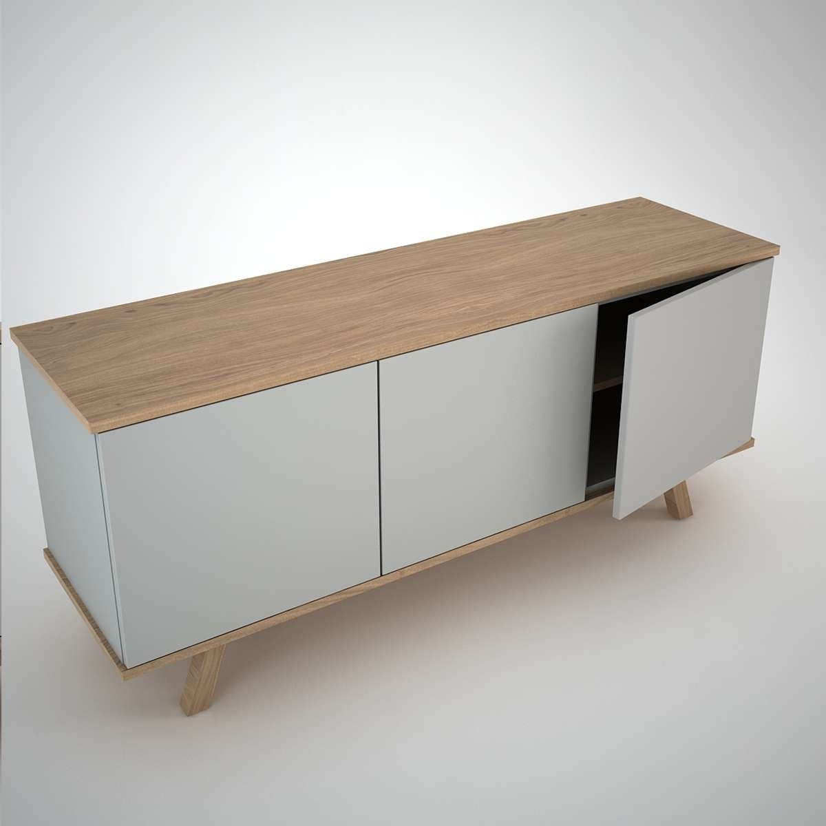 Ottawa Sideboard (3) Clay – Join Furniture With Contemporary Sideboards (View 15 of 20)