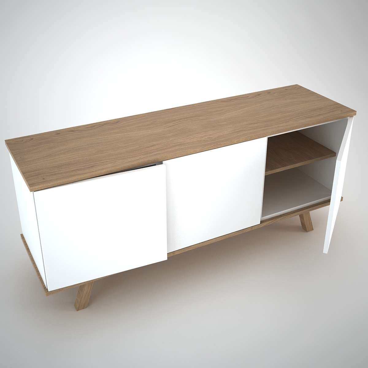 Ottawa Sideboard (3) White – Join Furniture Throughout White Modern Sideboards (Gallery 3 of 20)
