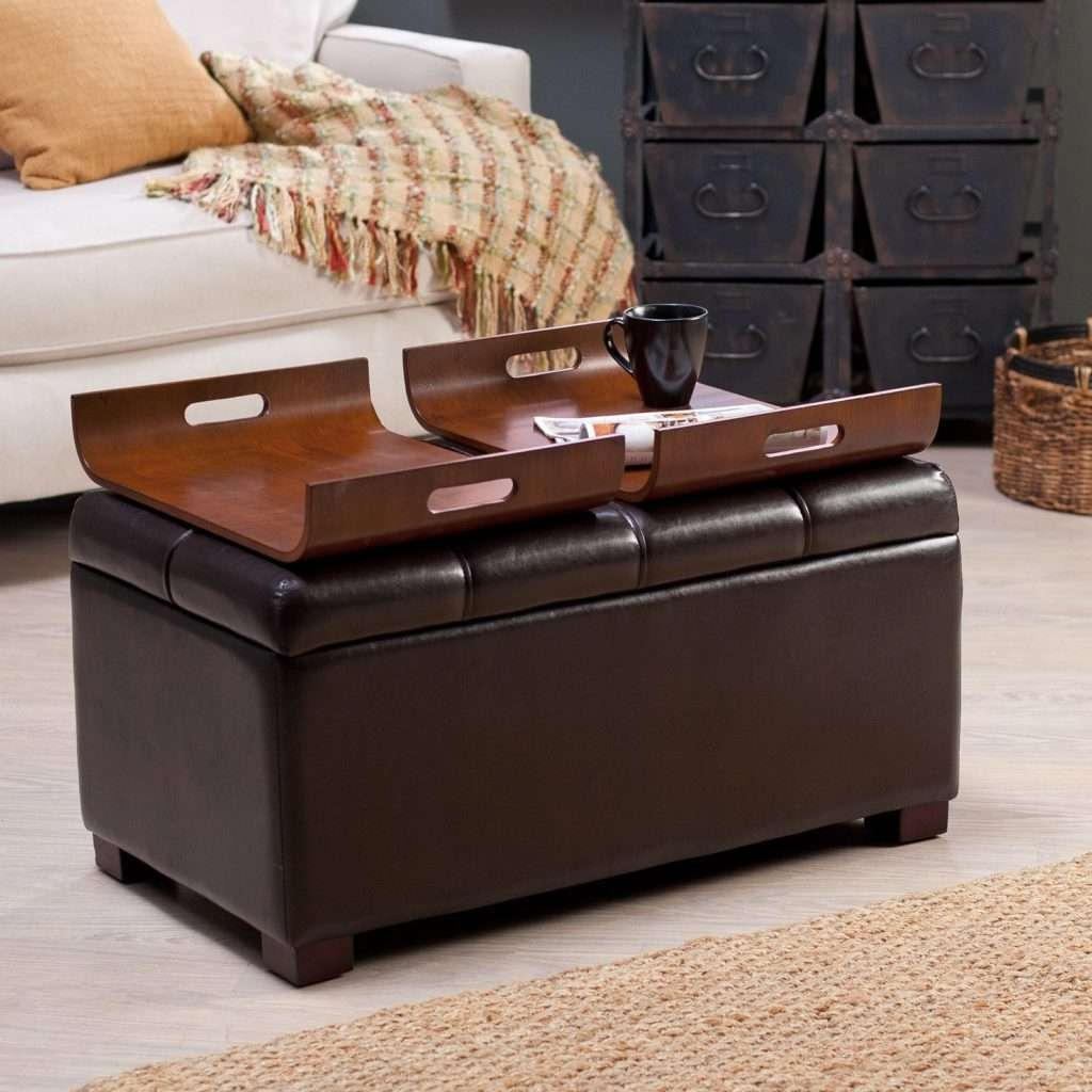 Ottoman Tray Table Tufted Ottoman Table Ottoman Footstool Coffee Regarding Widely Used Footstool Coffee Tables (View 9 of 20)