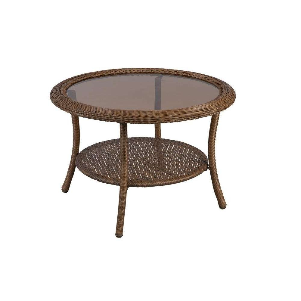 Outdoor Coffee Tables – Patio Tables – The Home Depot With Regard To Most Recent Round Slate Top Coffee Tables (View 11 of 20)