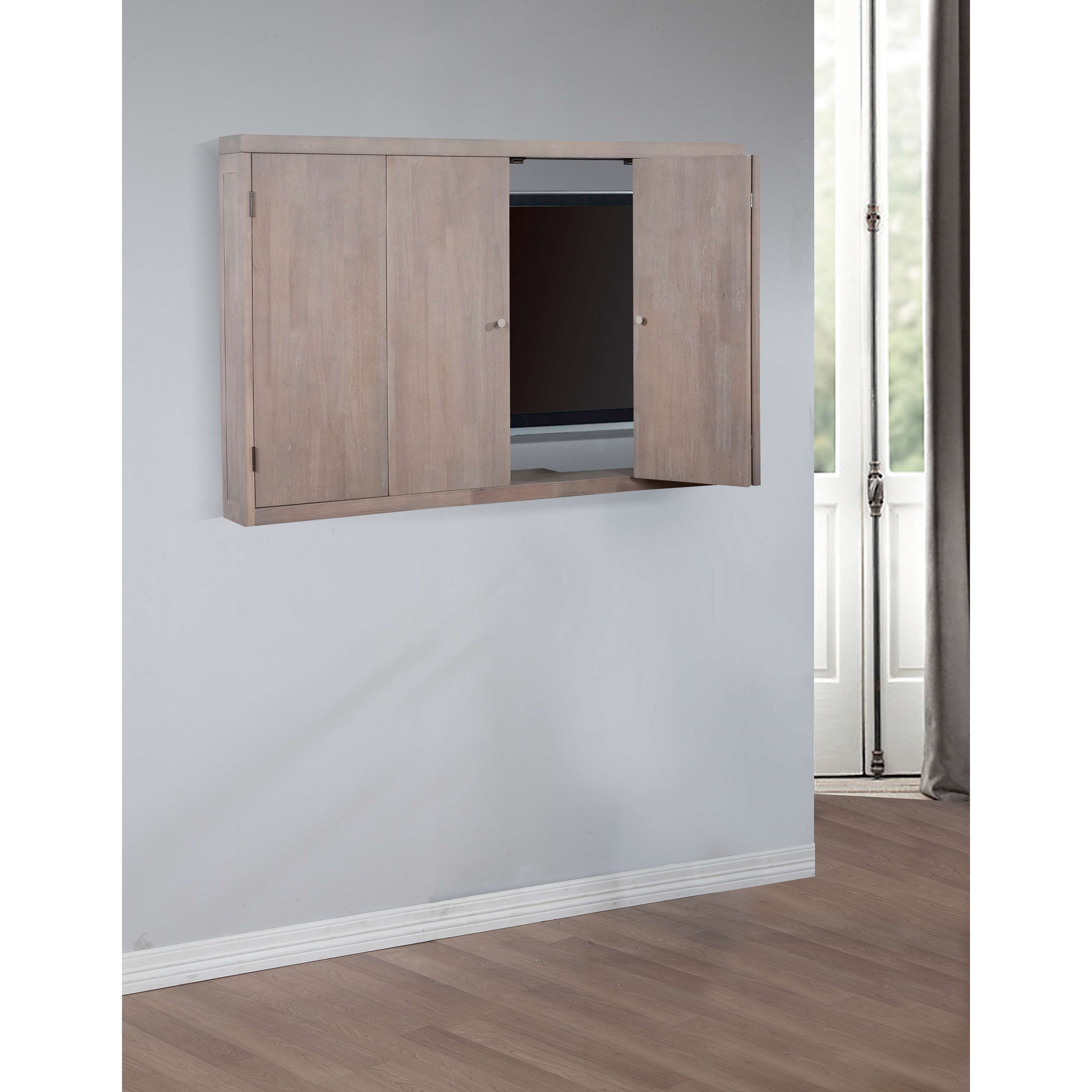 Featured Photo of Wall Mounted Tv Cabinets With Doors