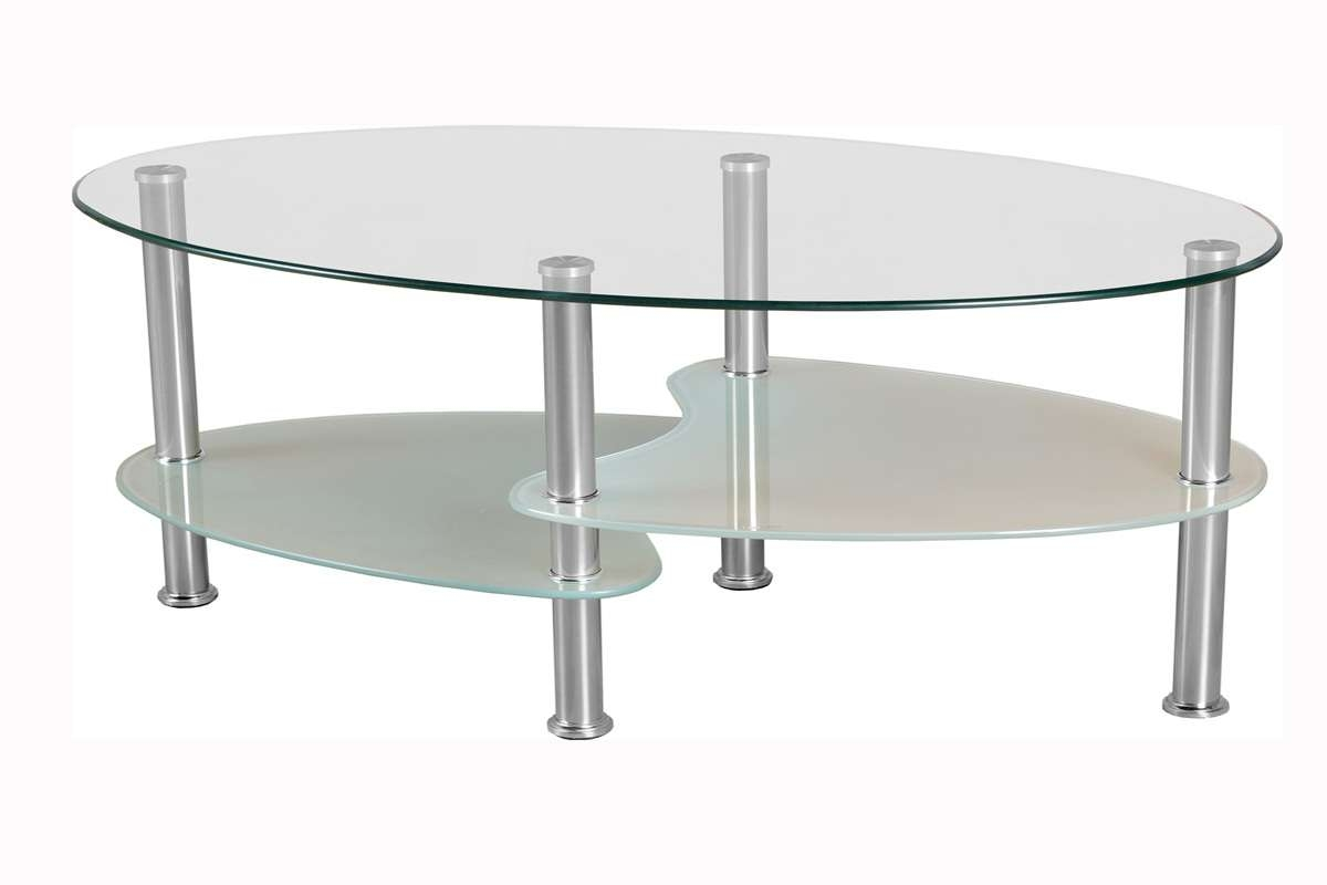 Oval Glass Coffee Tables Metal Frame An Have Some Unusual Shelves For Most Recently Released Oval Shaped Glass Coffee Tables (View 14 of 20)
