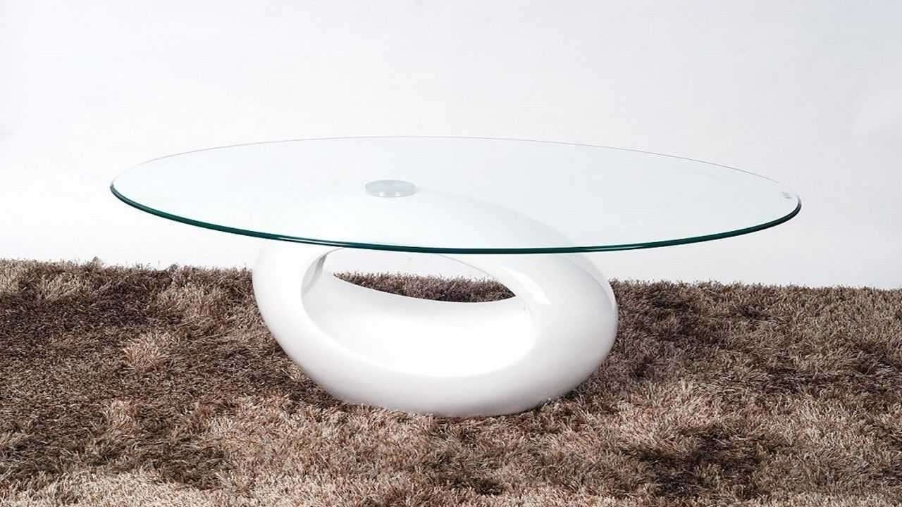 Oval Gloss Coffee Table White (View 16 of 20)