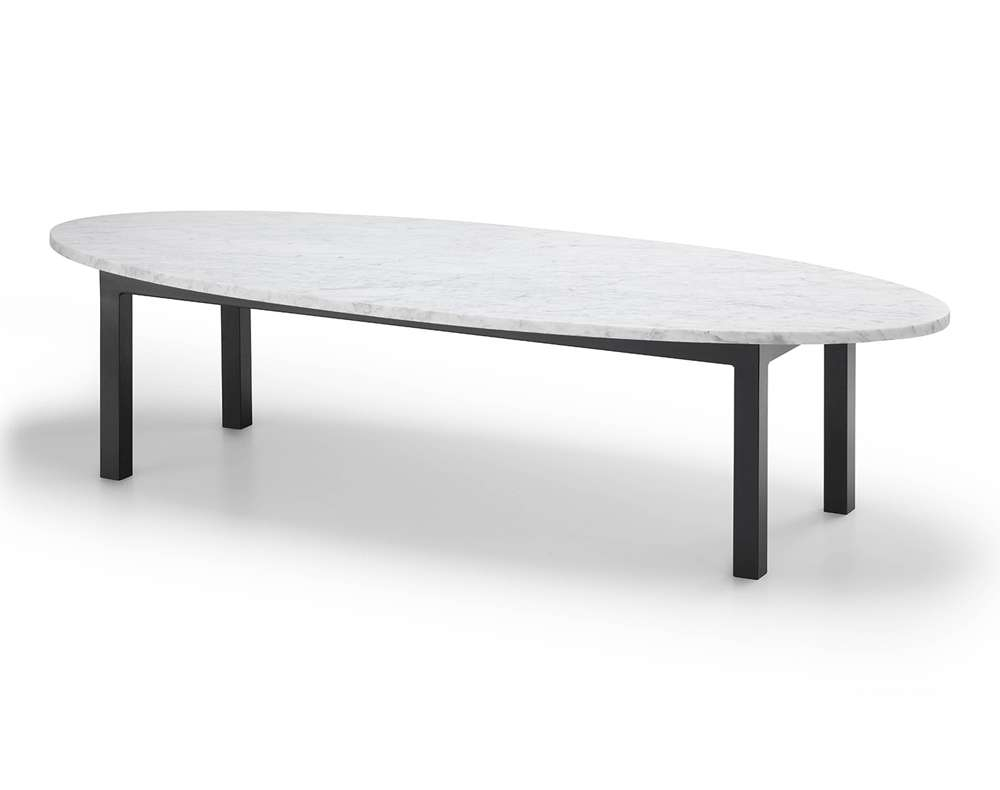 Oval Marble Coffee Table – Plain Air With Regard To Latest Black Oval Coffee Table (View 12 of 20)