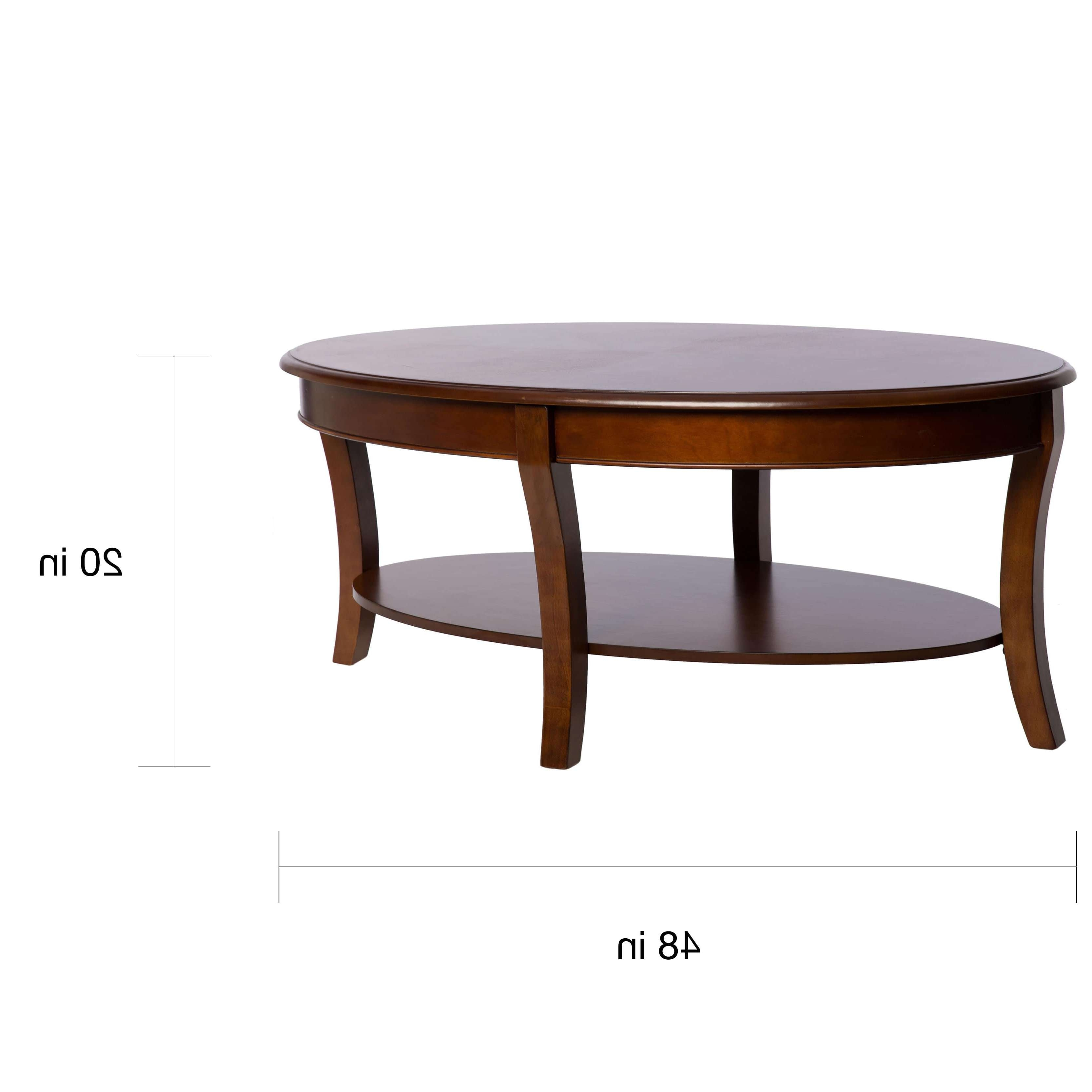 Oval Walnut Coffee Table – Free Shipping Today – Overstock In 2017 Oval Walnut Coffee Tables (View 9 of 20)