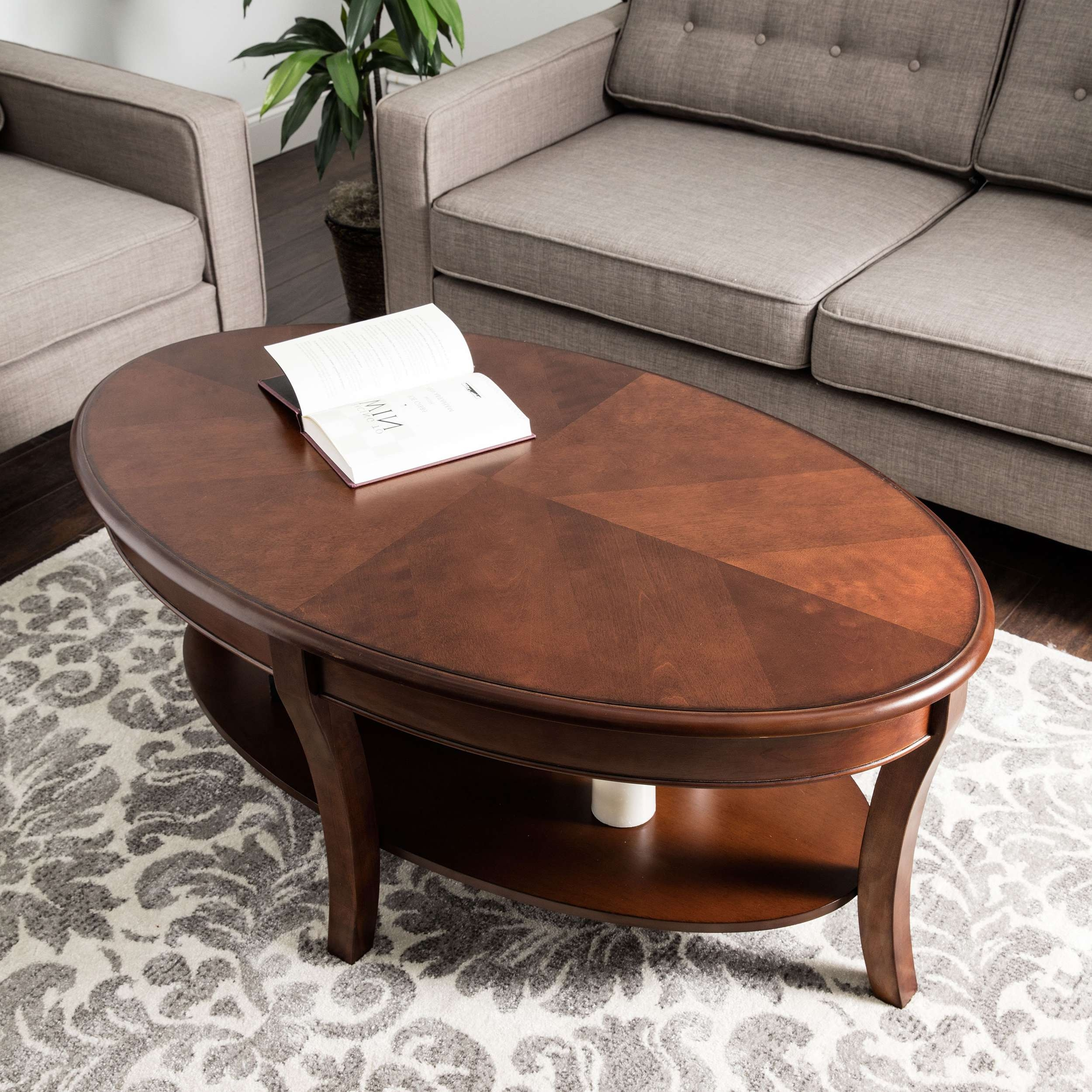 Oval Walnut Coffee Table – Free Shipping Today – Overstock Throughout Preferred Oval Walnut Coffee Tables (View 10 of 20)