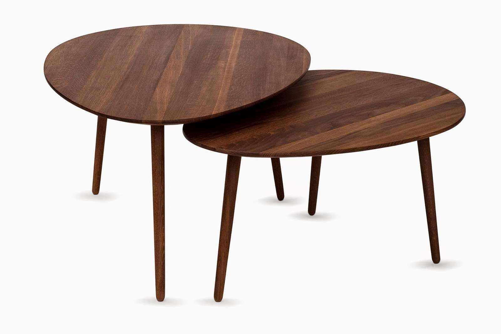 Oval Walnut Coffee Table Tables Living Room View 12 Of 20