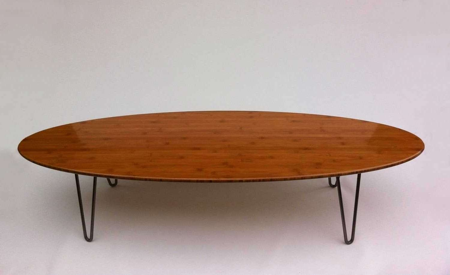Oval Wood Coffee Table (View 2 of 20)