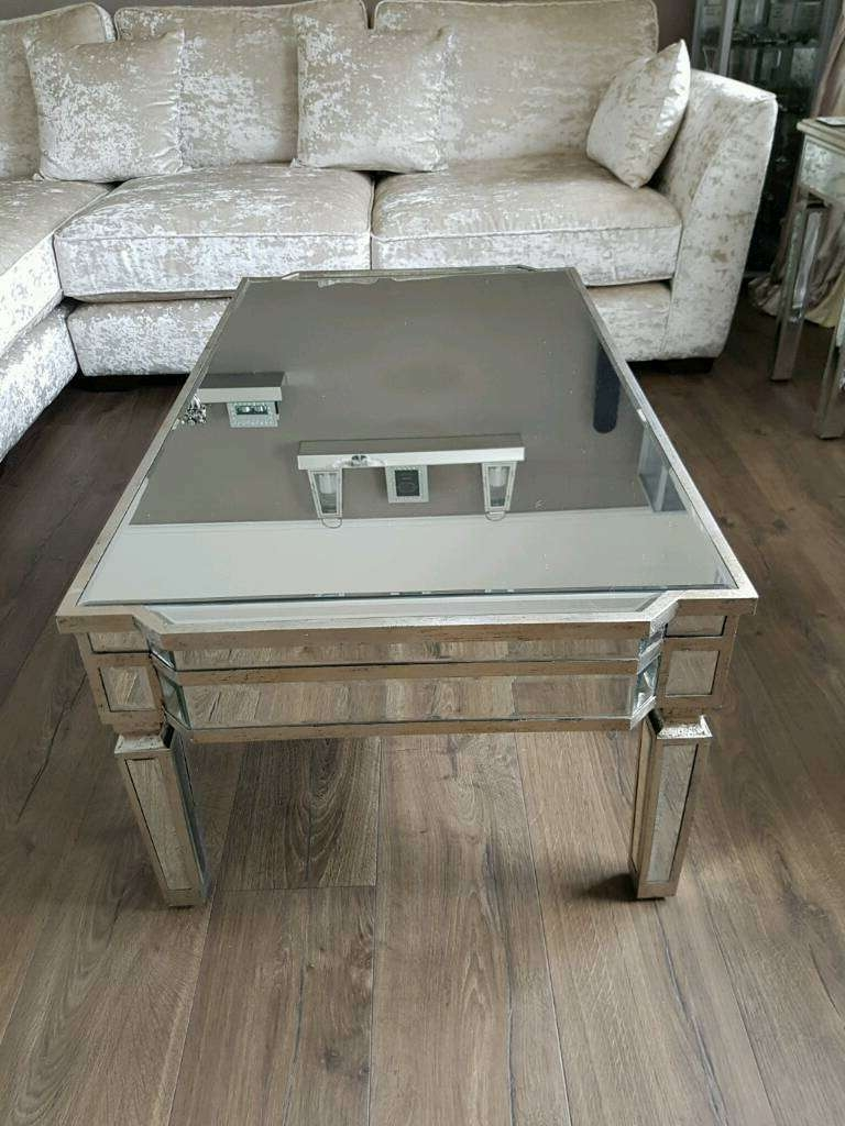 Oversized Square Coffee Tables Regarding Latest Mirror Glass Coffee Table (View 14 of 20)