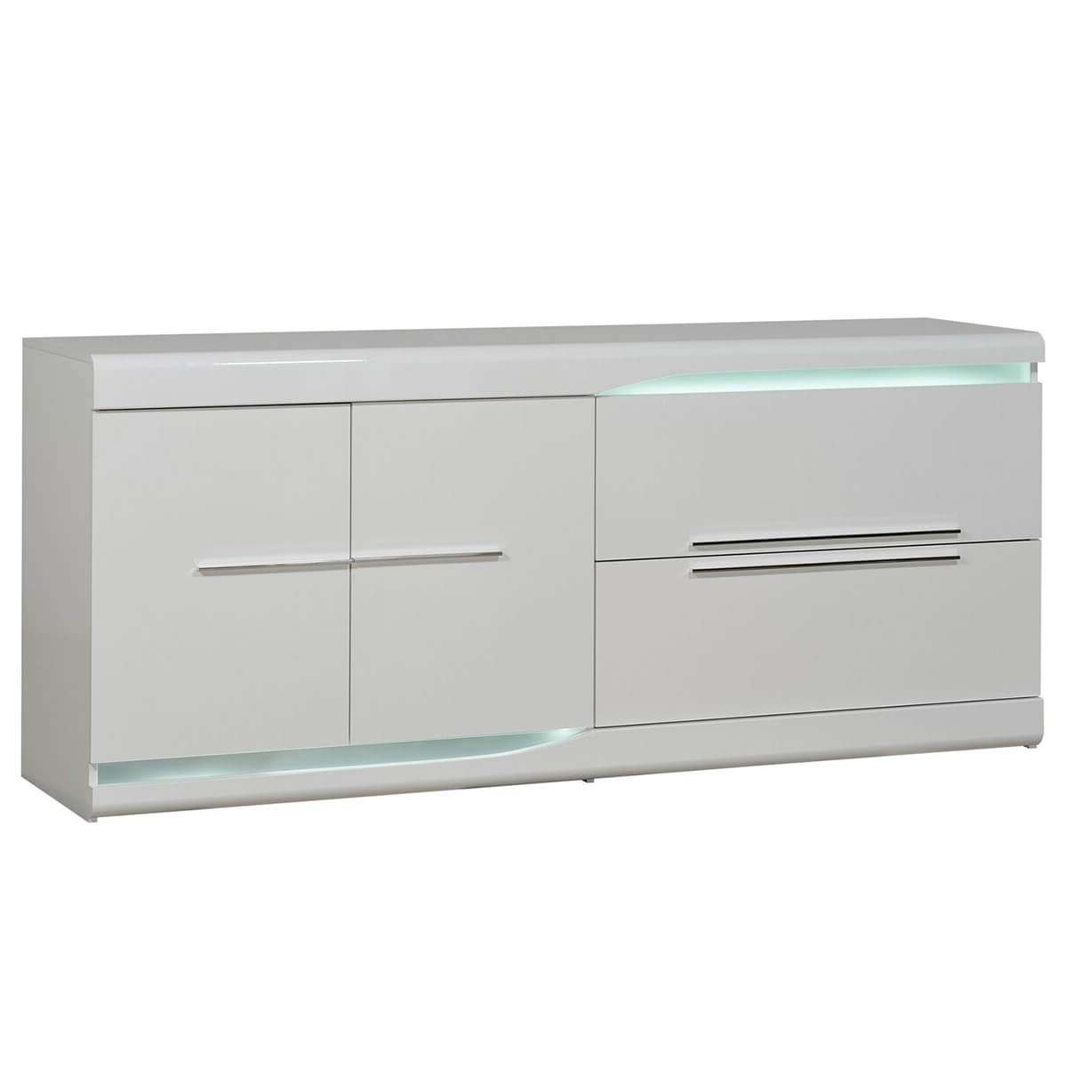 Ovio White Sideboard With Led Lights | Modern Sideboards | Fads Within White Sideboards (View 13 of 20)