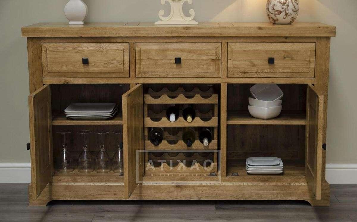 Oxford Solid Oak Large Sideboard – Oak Sideboards – Oak Furniture In Solid Oak Sideboards (Gallery 20 of 20)