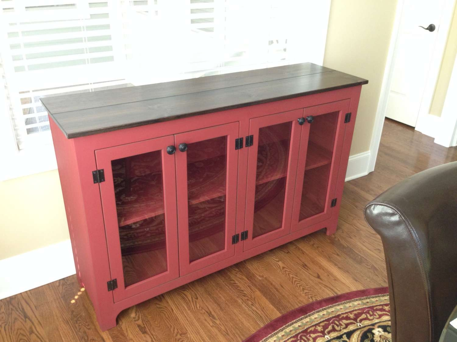 Painted Buffet Red Sideboard Large Buffet Credenza Within Red Sideboards Buffets (View 7 of 20)