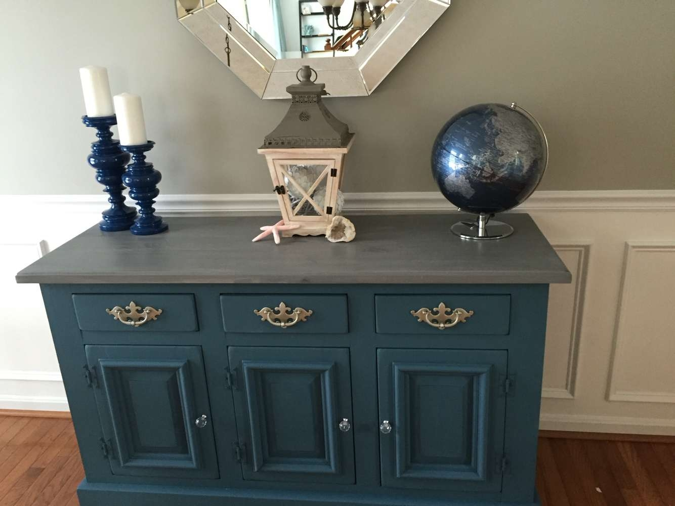 Painted Dining Room Buffet Using Annie Sloan Chalk Paint Aubusson Within Annie Sloan Painted Sideboards (View 18 of 20)