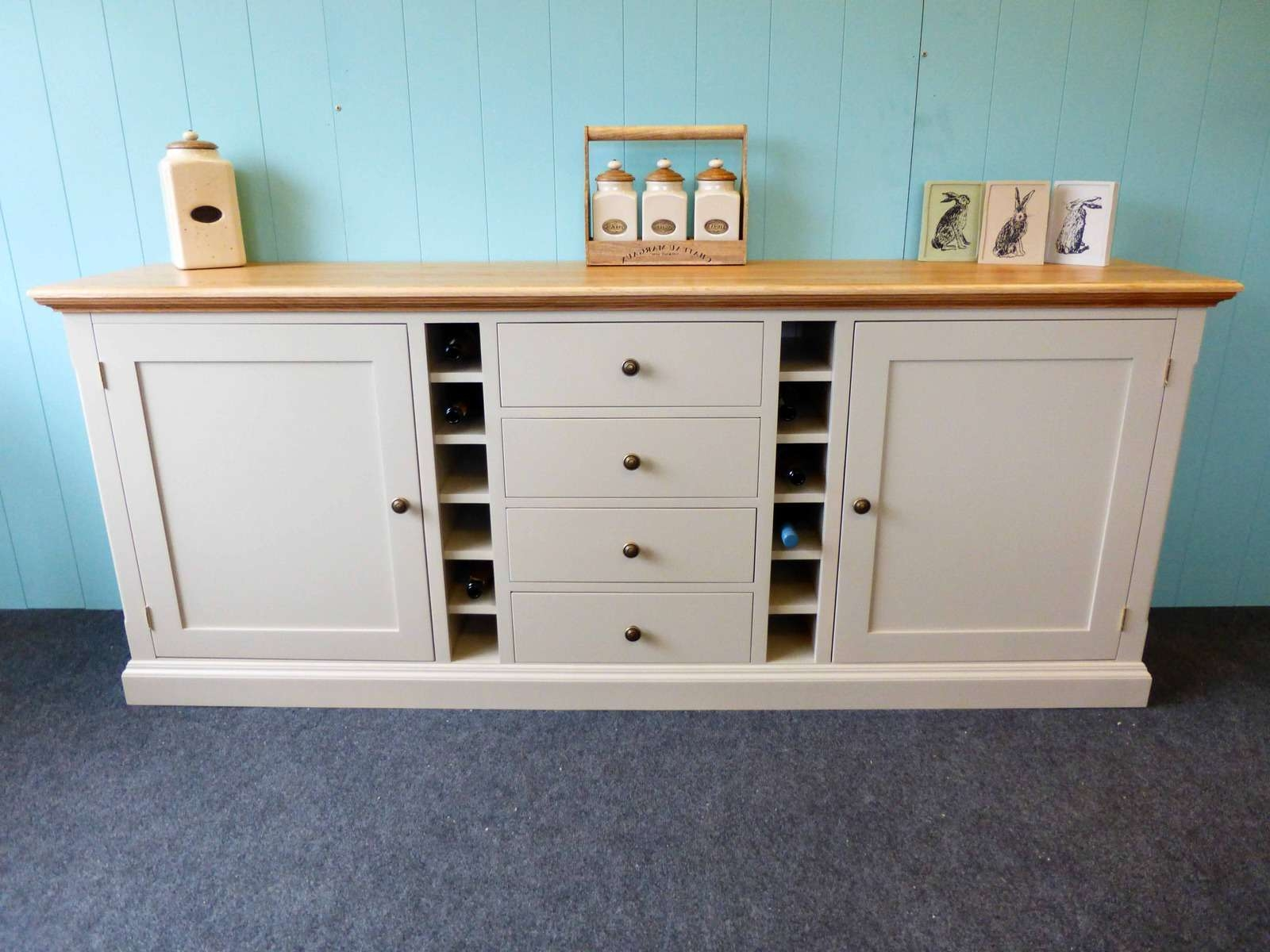 Painted Dresser With Wine Rack – Bespoke Kitchen And Dining Room In Kitchen Sideboards (View 14 of 20)
