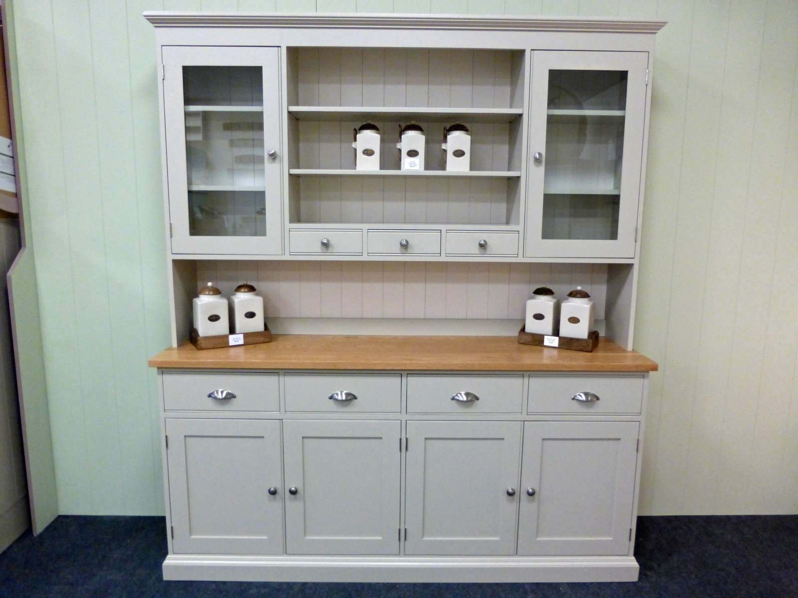 Painted Kitchen Dresser U2013 Solid Wood U0026 Painted Made To Measure Intended For Kitchen  Dressers And