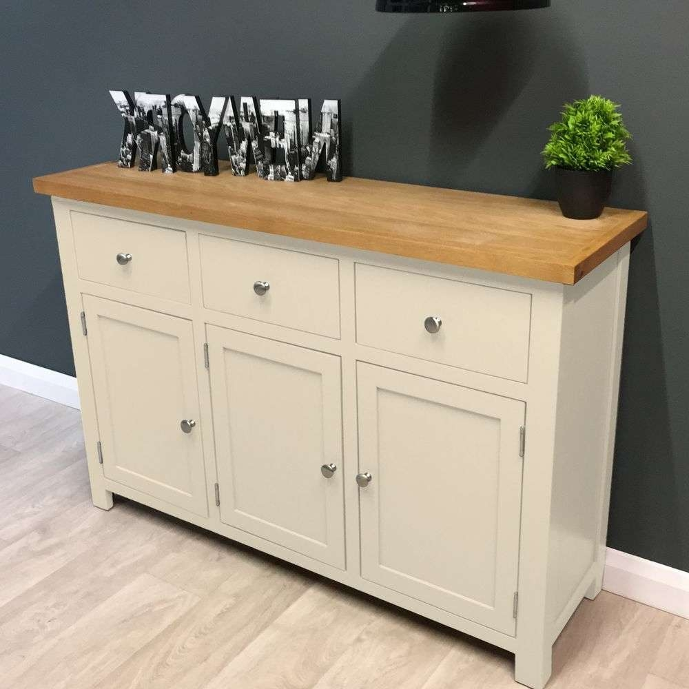 Painted Oak Dresser | Ebay Throughout Cream And Oak Sideboards (View 8 of 20)