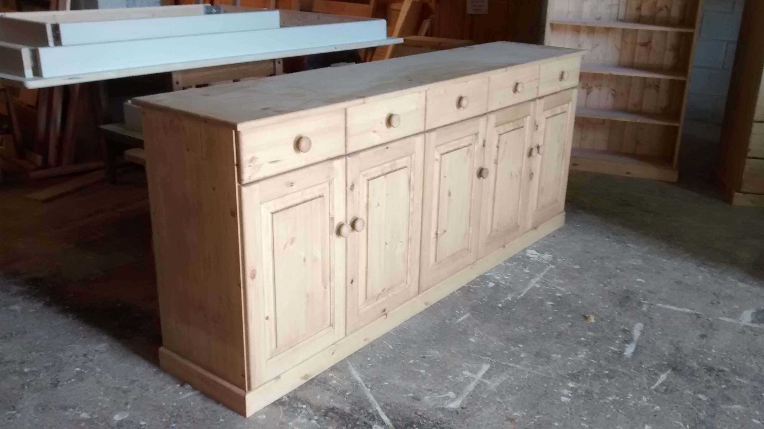 Painted Pine Dresser | Pine Welsh Dressers With Pine Sideboards (View 19 of 20)