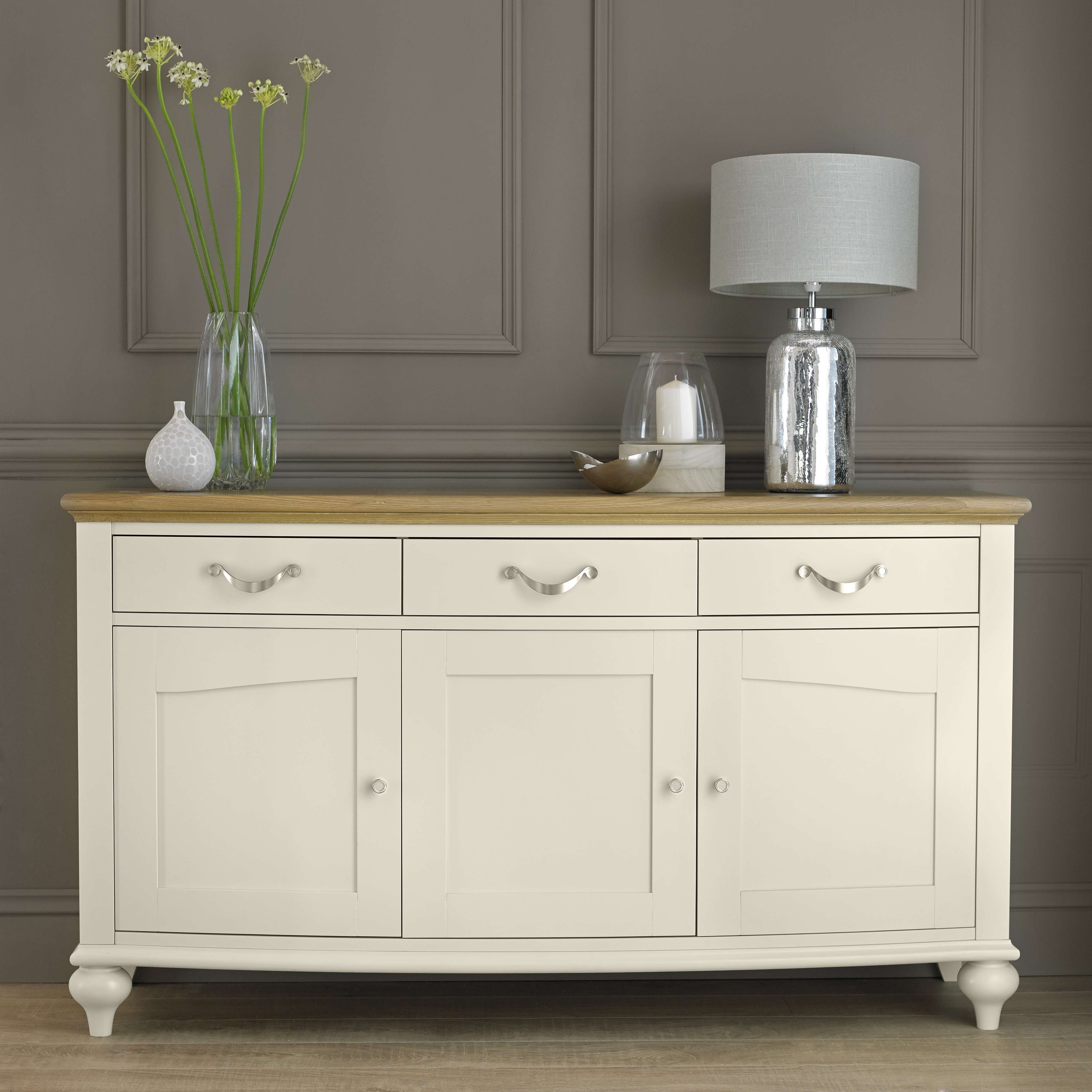 Painted Sideboards – White Wooden Sideboards | Oak Furniture Solutions With Regard To Low Wide Sideboards (View 20 of 20)