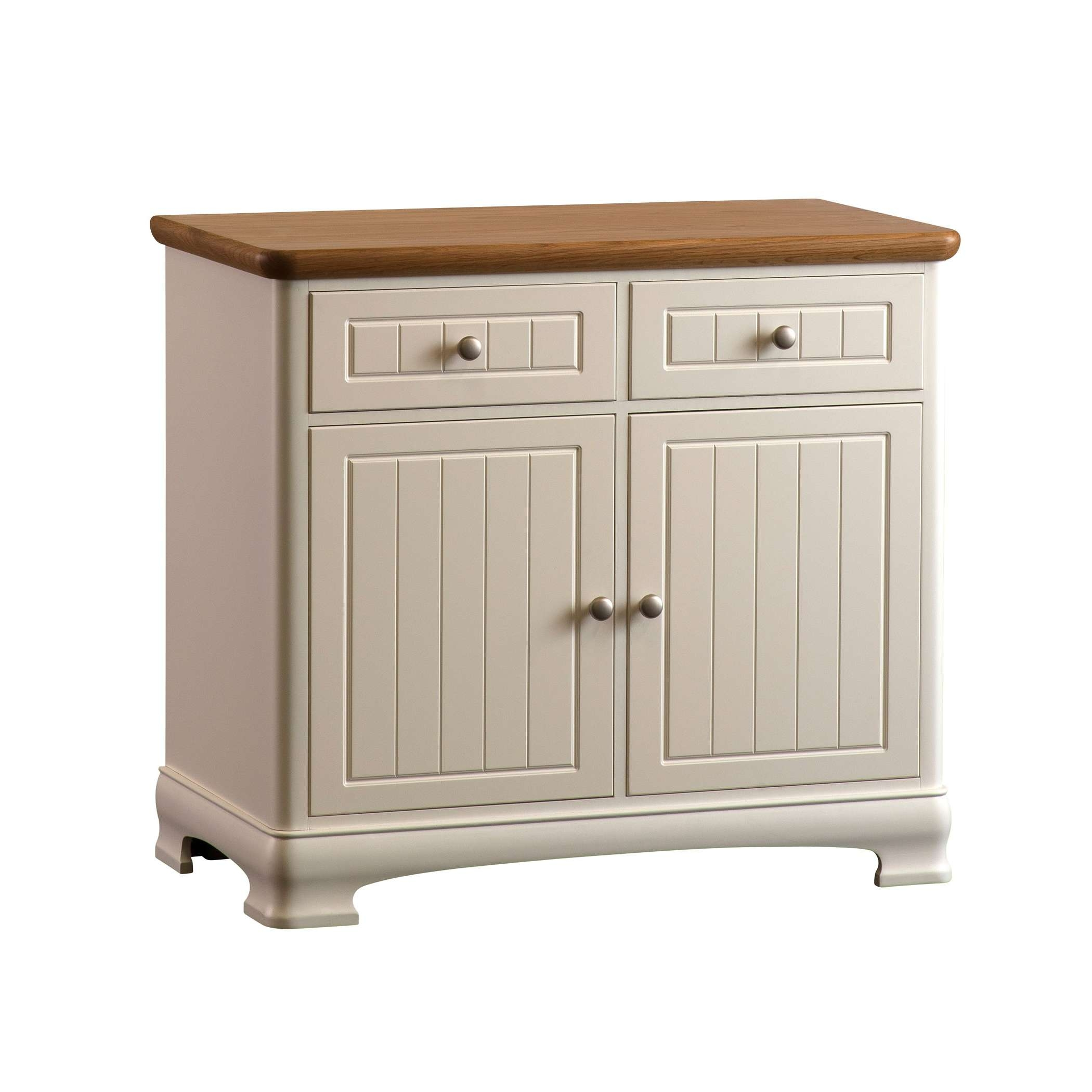 Painted Small Two Door Sideboard With Two Drawers | Gola Furniture Uk Within Small Sideboards (View 9 of 20)