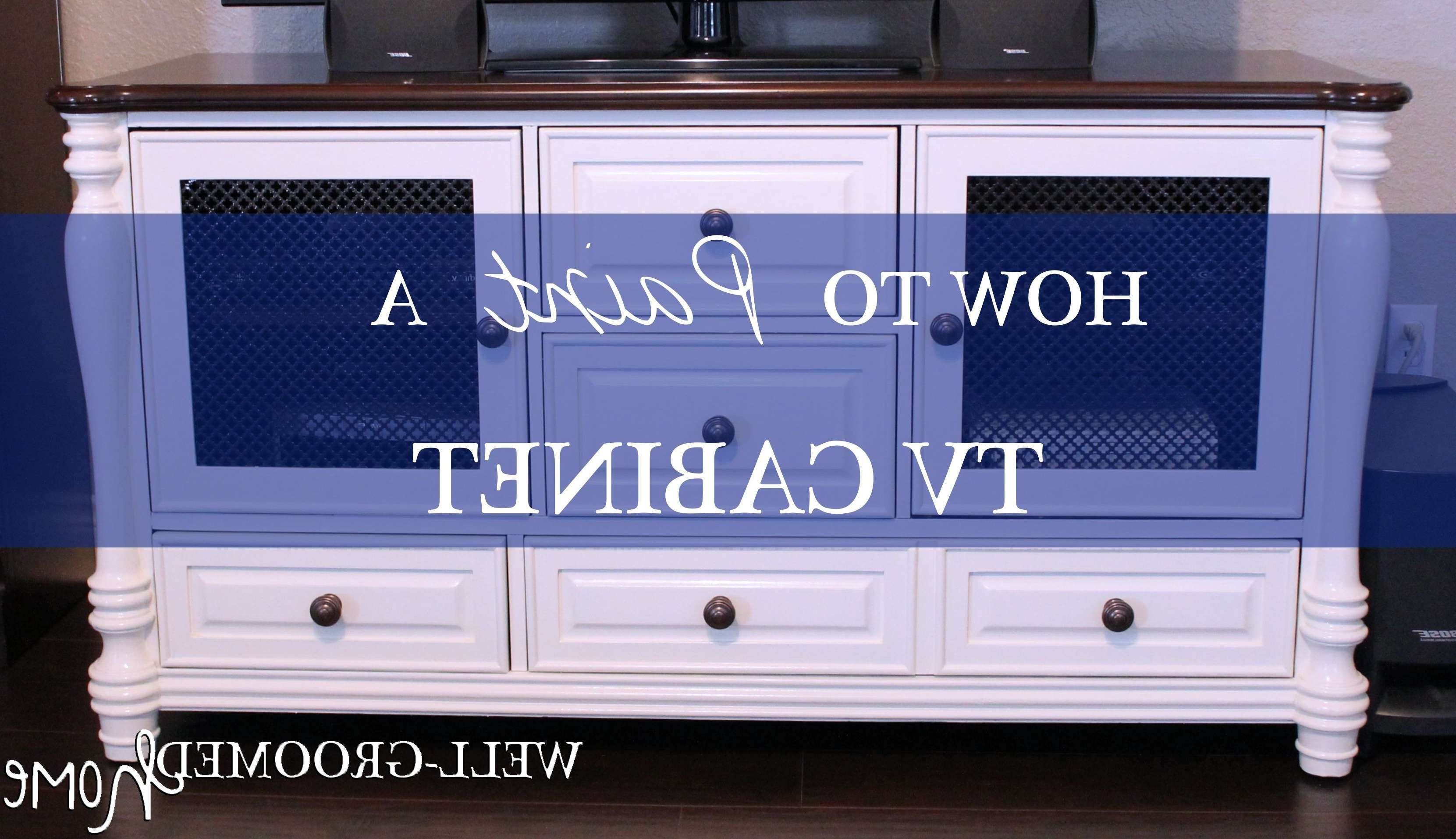 Painting A Tv Cabinet – Well Groomed Home In White Painted Tv Cabinets (View 2 of 20)
